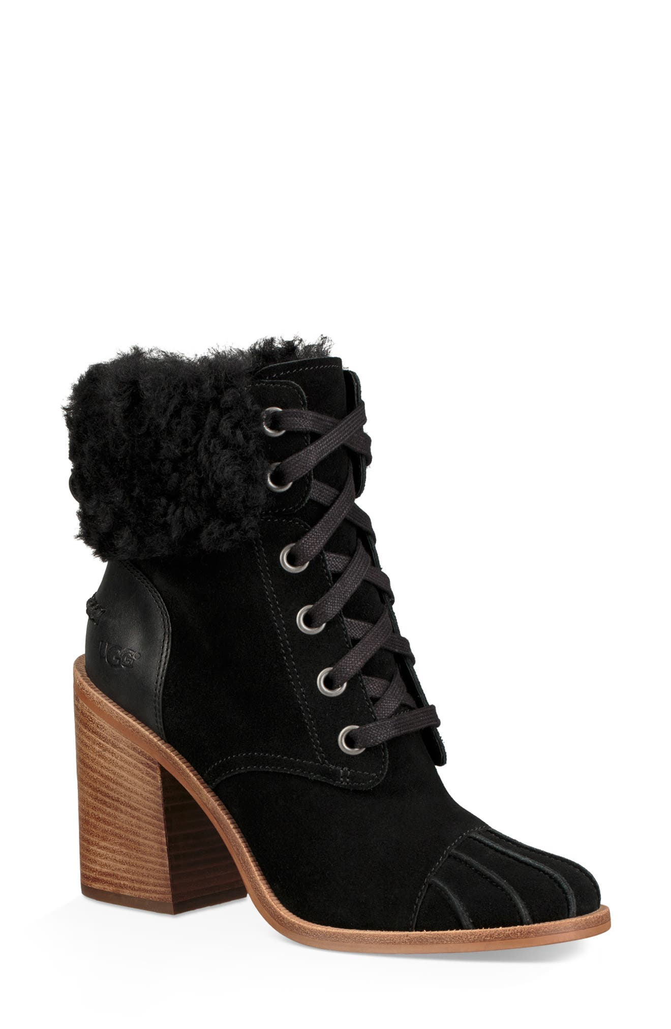 Jaxon Cuff Bootie,                             Main thumbnail 1, color,                             BLACK
