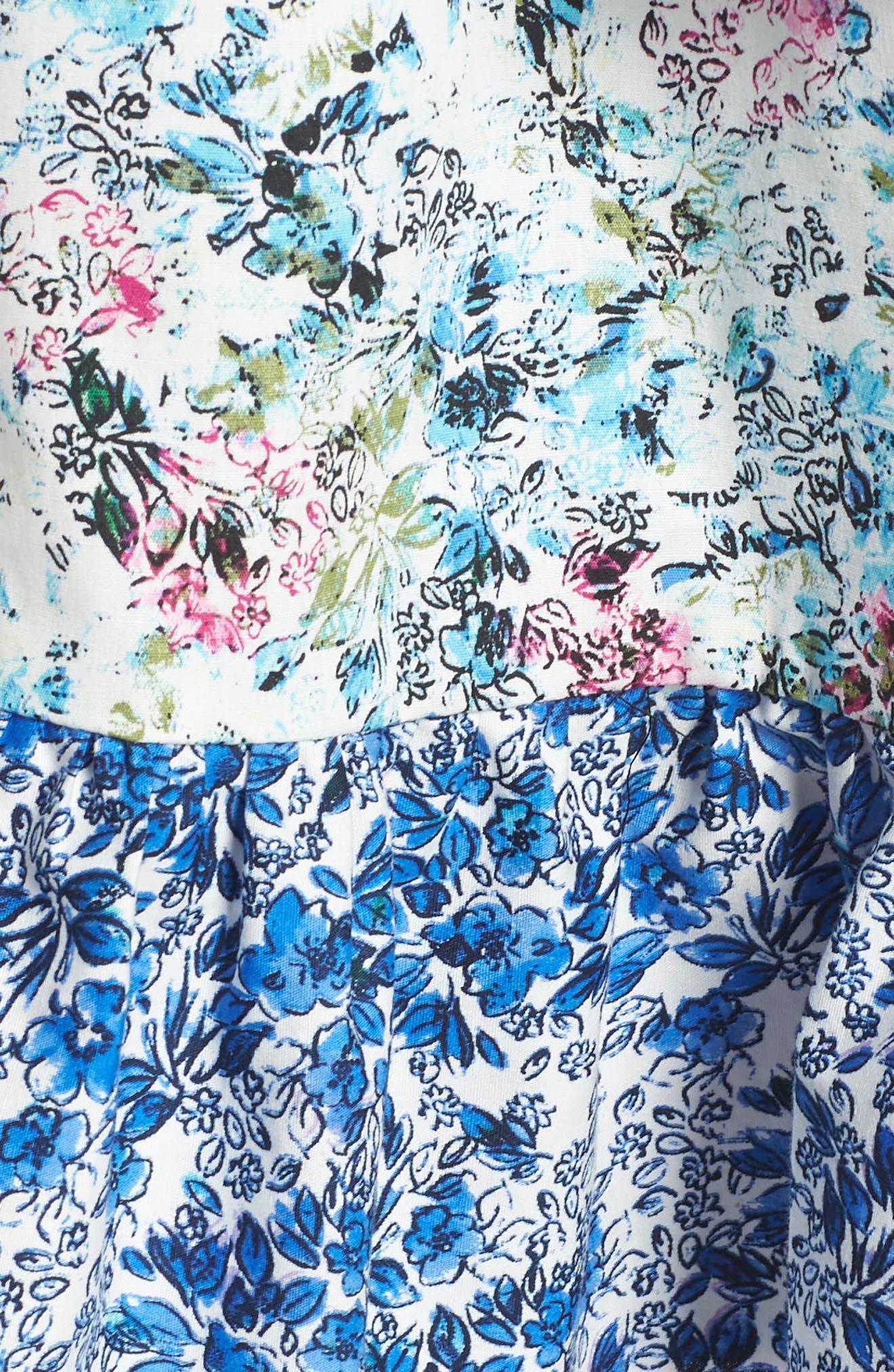 Floral Off the Shoulder Dress,                             Alternate thumbnail 5, color,                             475