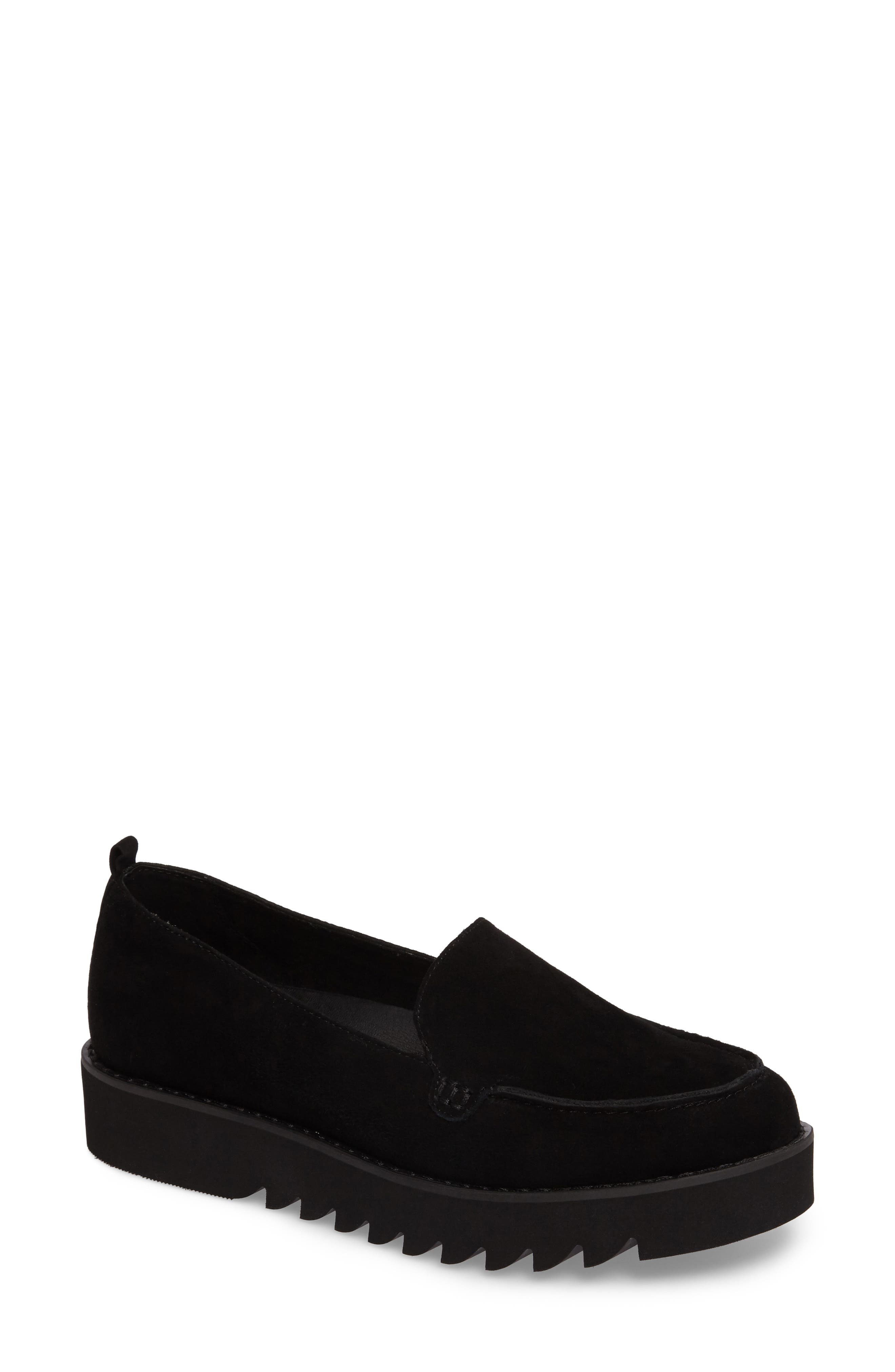 Kendall Loafer,                             Main thumbnail 1, color,                             BLACK SUEDE