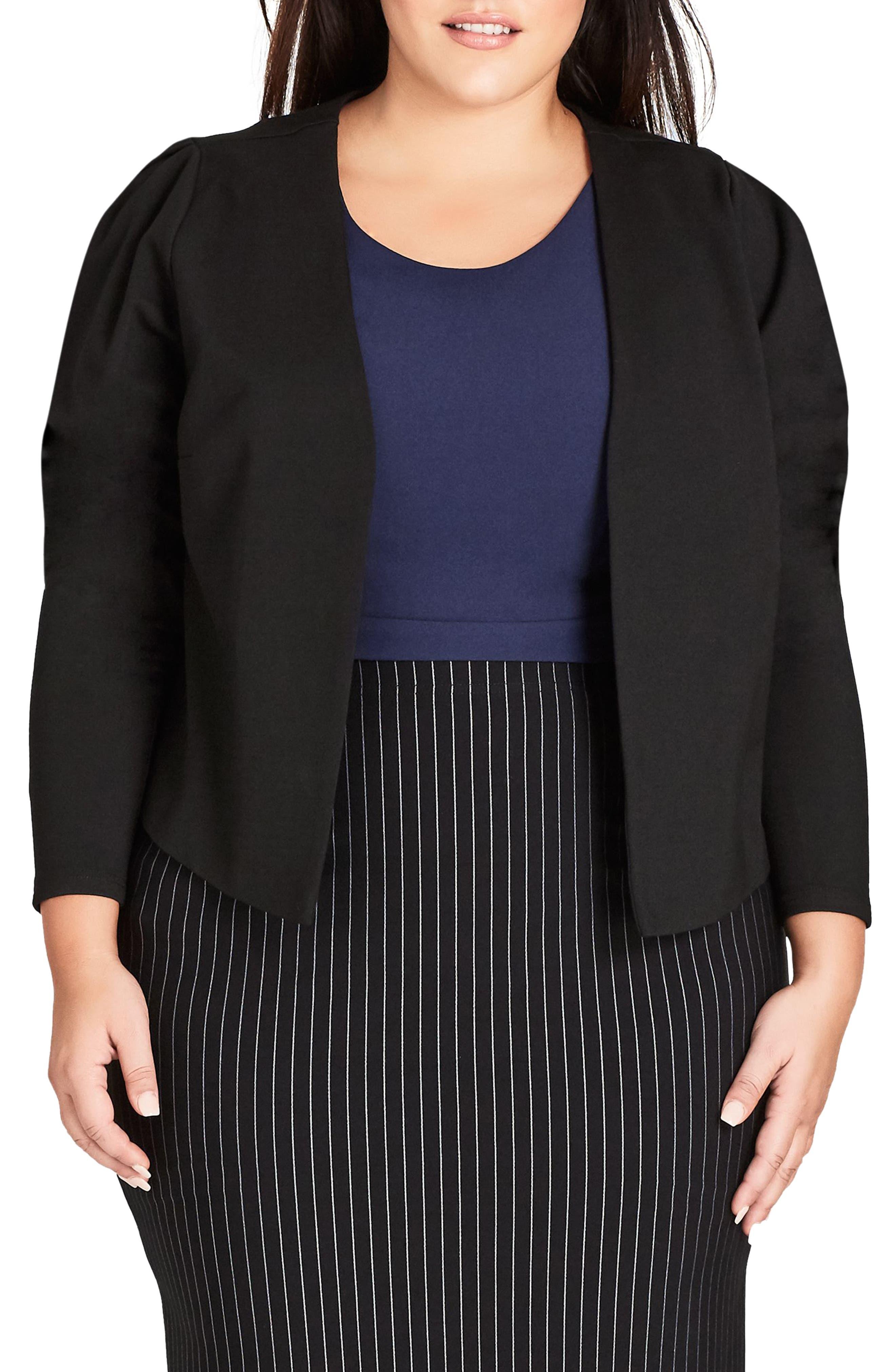 Office Fling Jacket, Main, color, BLACK