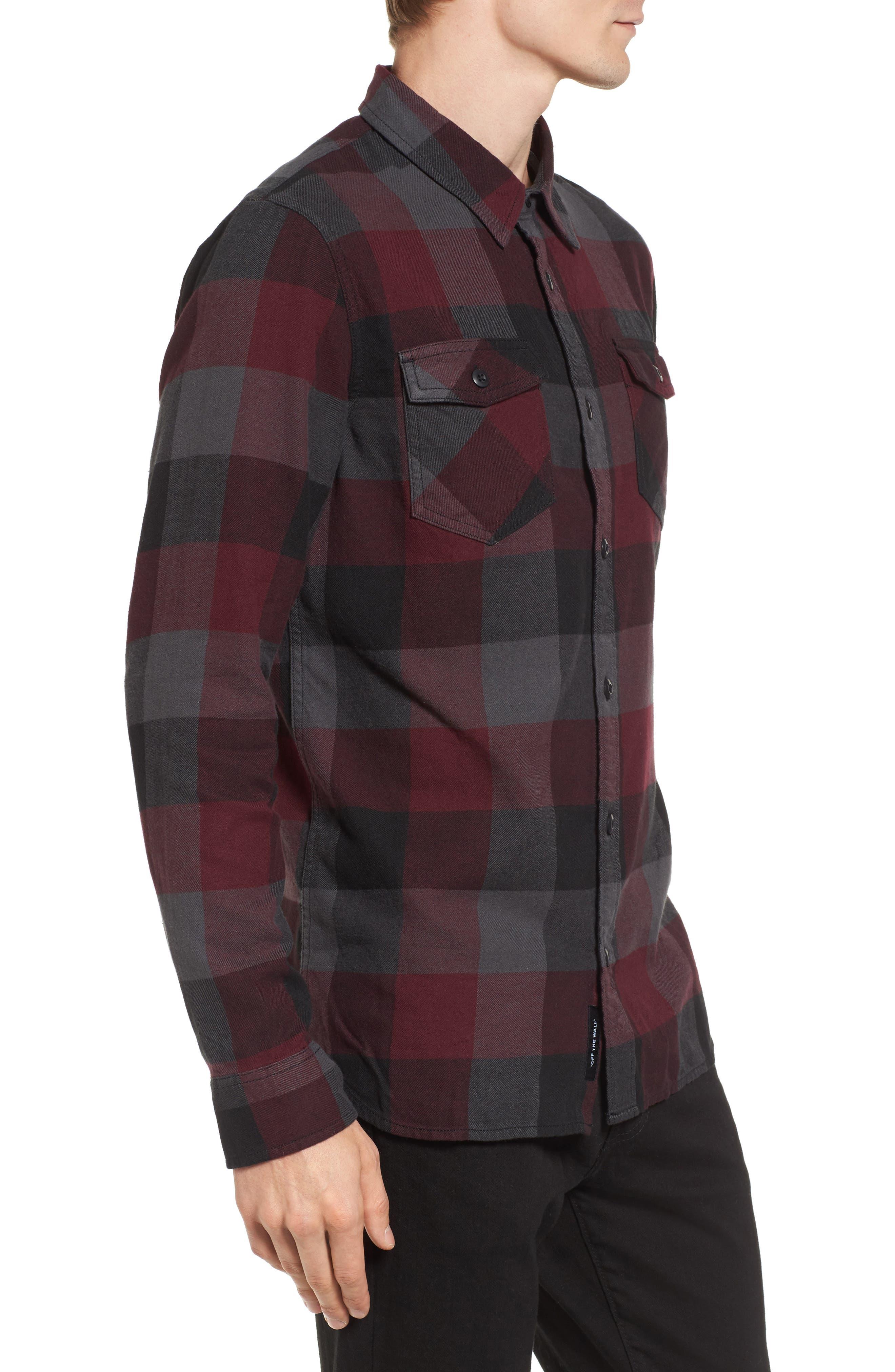 Trim Fit Check Flannel Woven Shirt,                             Alternate thumbnail 13, color,
