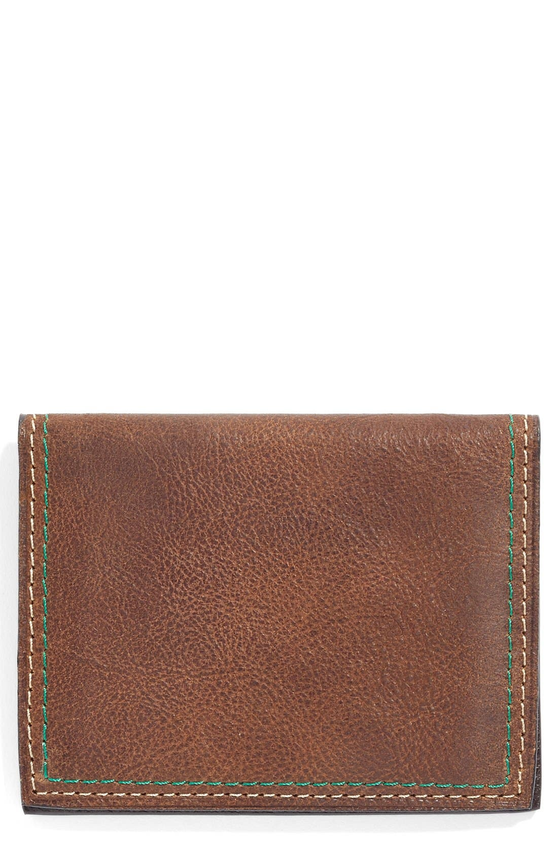 Water Buffalo Leather Card Case,                         Main,                         color, 200