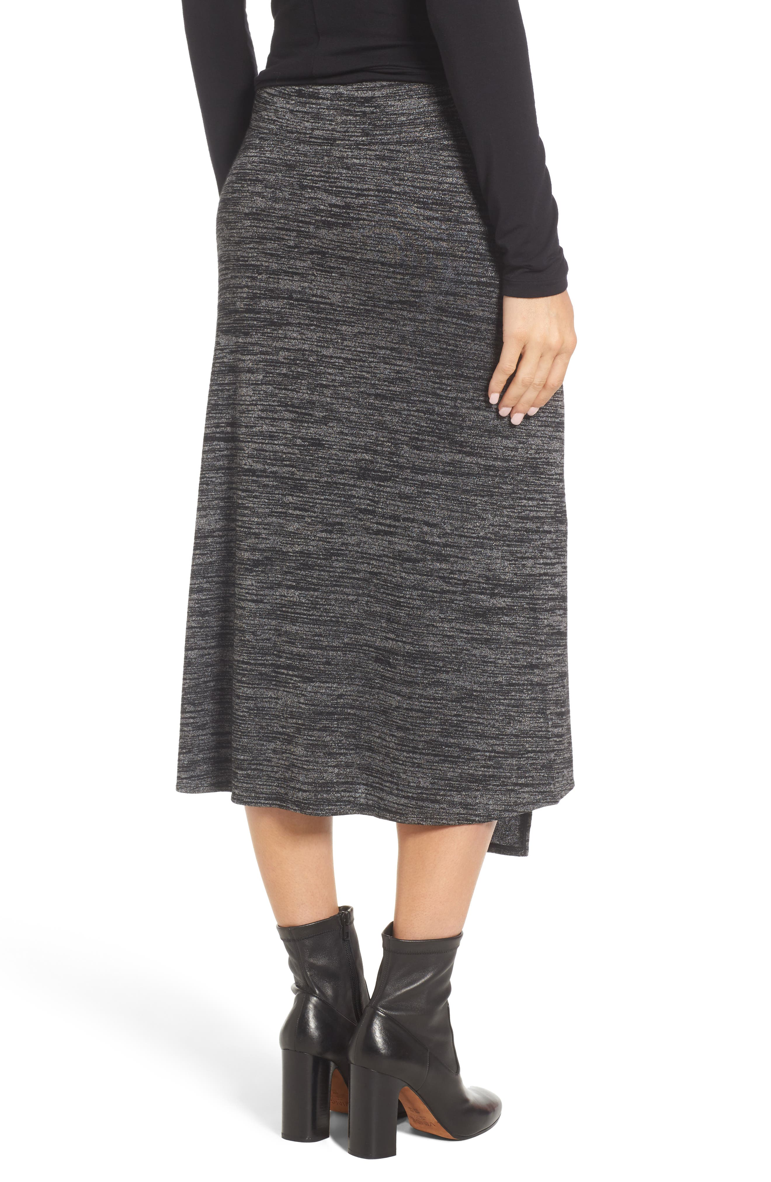 Nic + Zoe Every Occasion Faux Wrap Skirt,                             Alternate thumbnail 4, color,