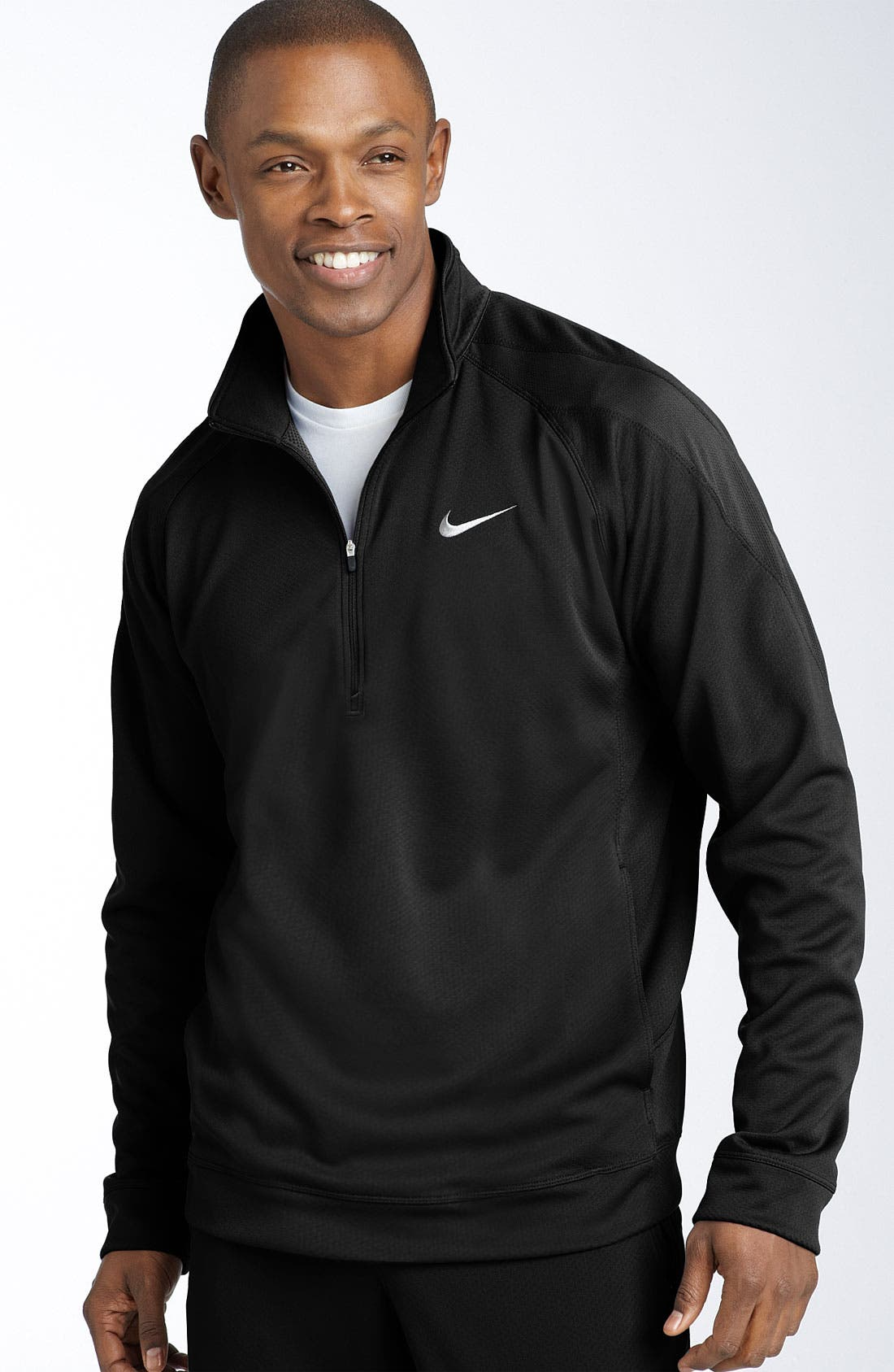 'Endurance Sphere' Dri-FIT Waffle Weave Half Zip Pullover,                             Main thumbnail 1, color,                             010