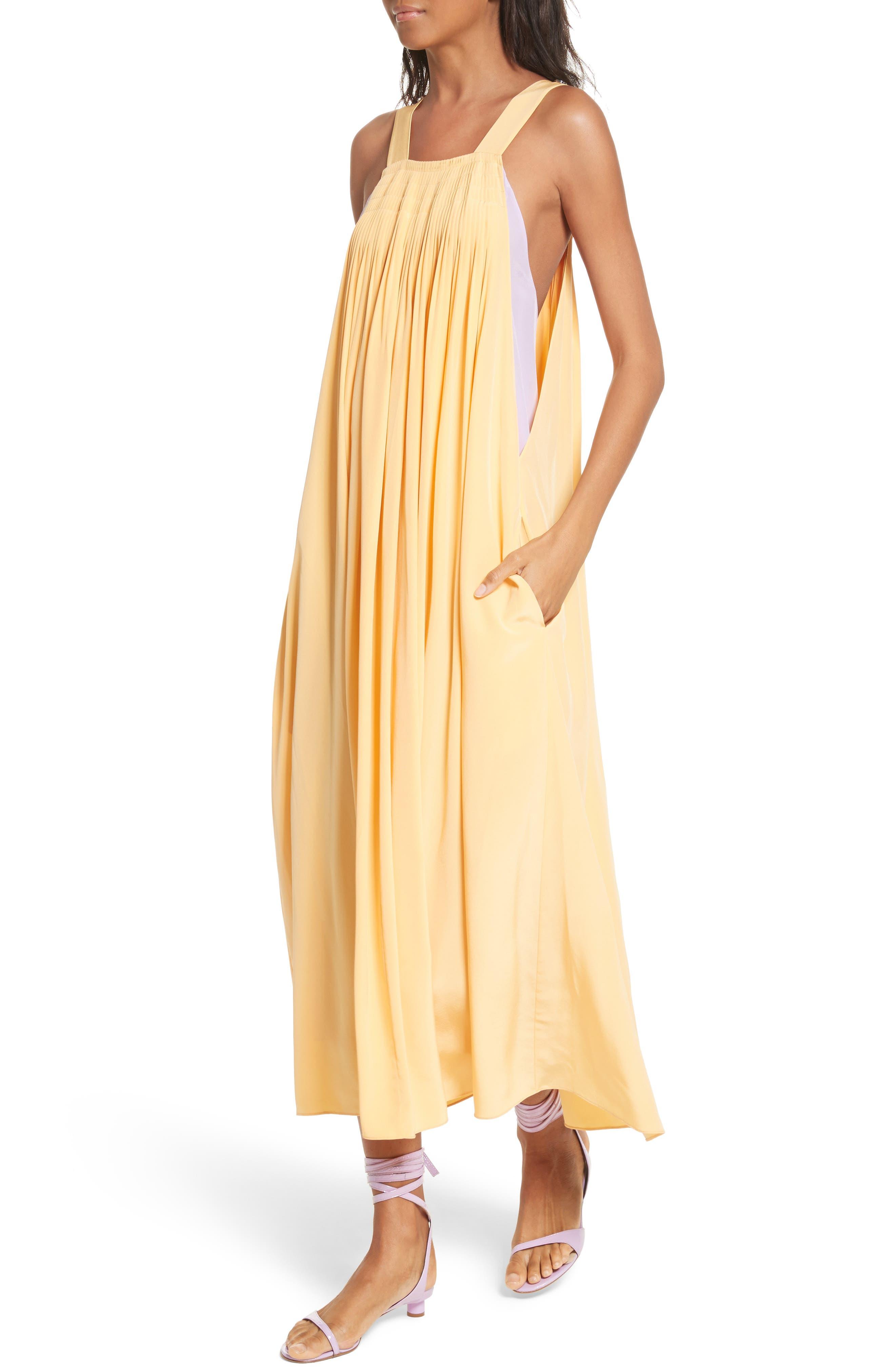 Silk Overall Dress,                             Alternate thumbnail 4, color,                             829