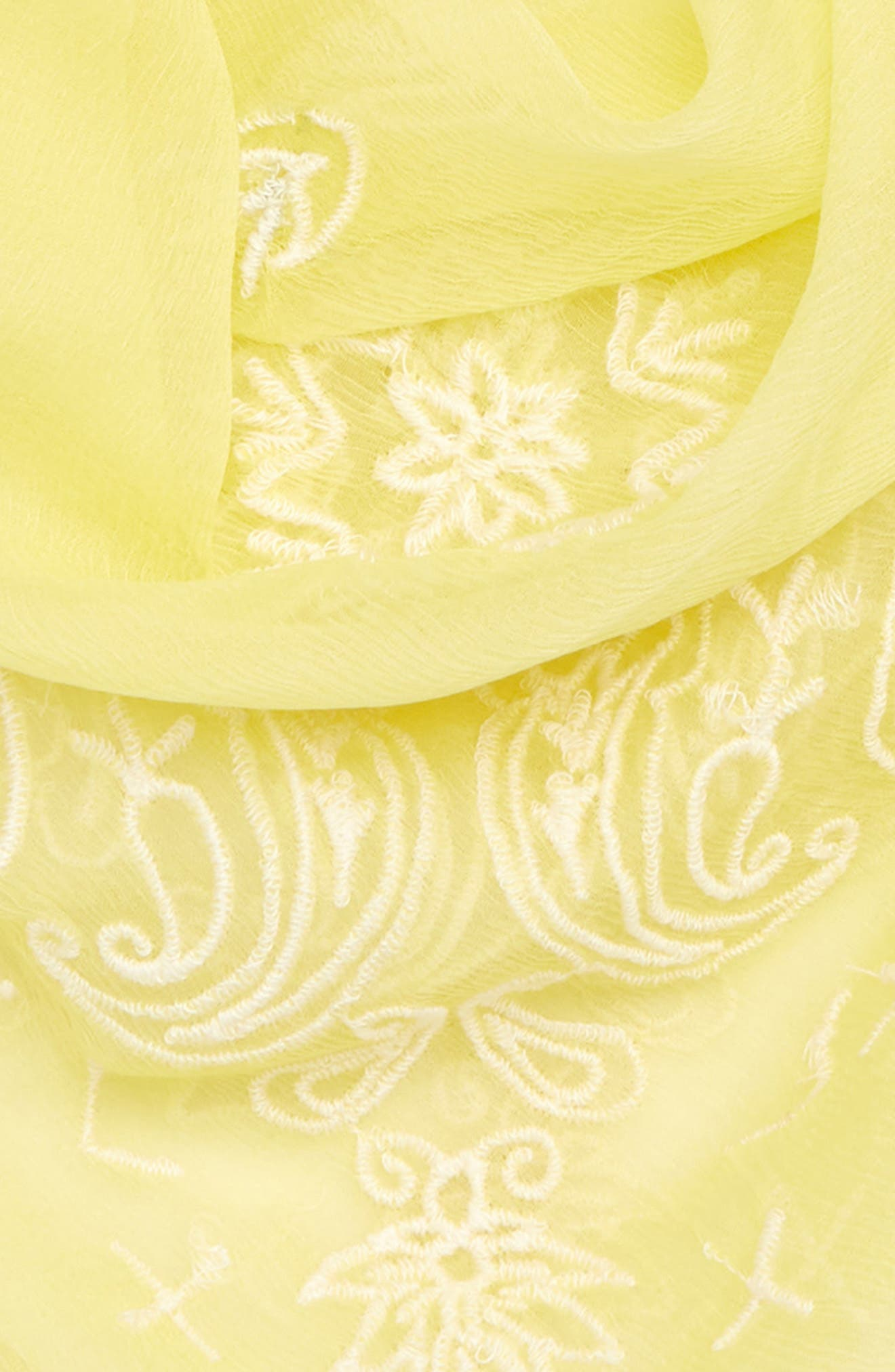 Embroidered Chiffon Bandana,                             Alternate thumbnail 3, color,