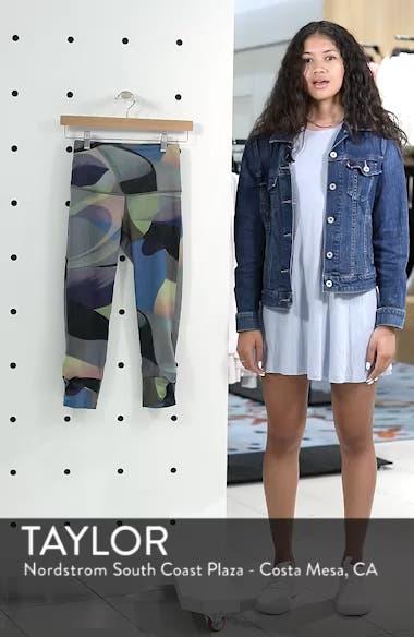 Katya High Waist Abstract Print Recycled Crop Leggings, sales video thumbnail