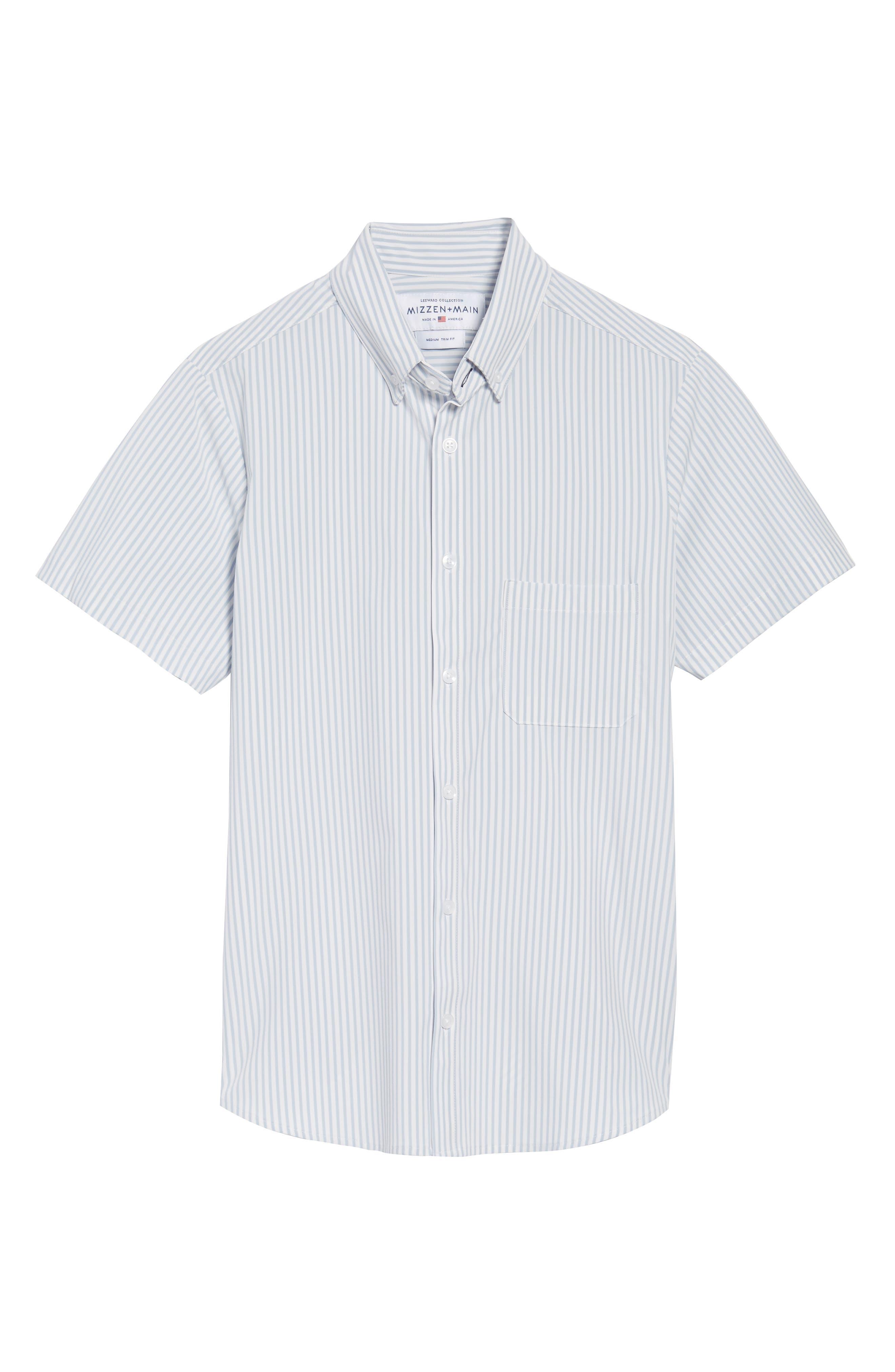 St. Elias Stripe Sport Shirt,                             Alternate thumbnail 6, color,                             100