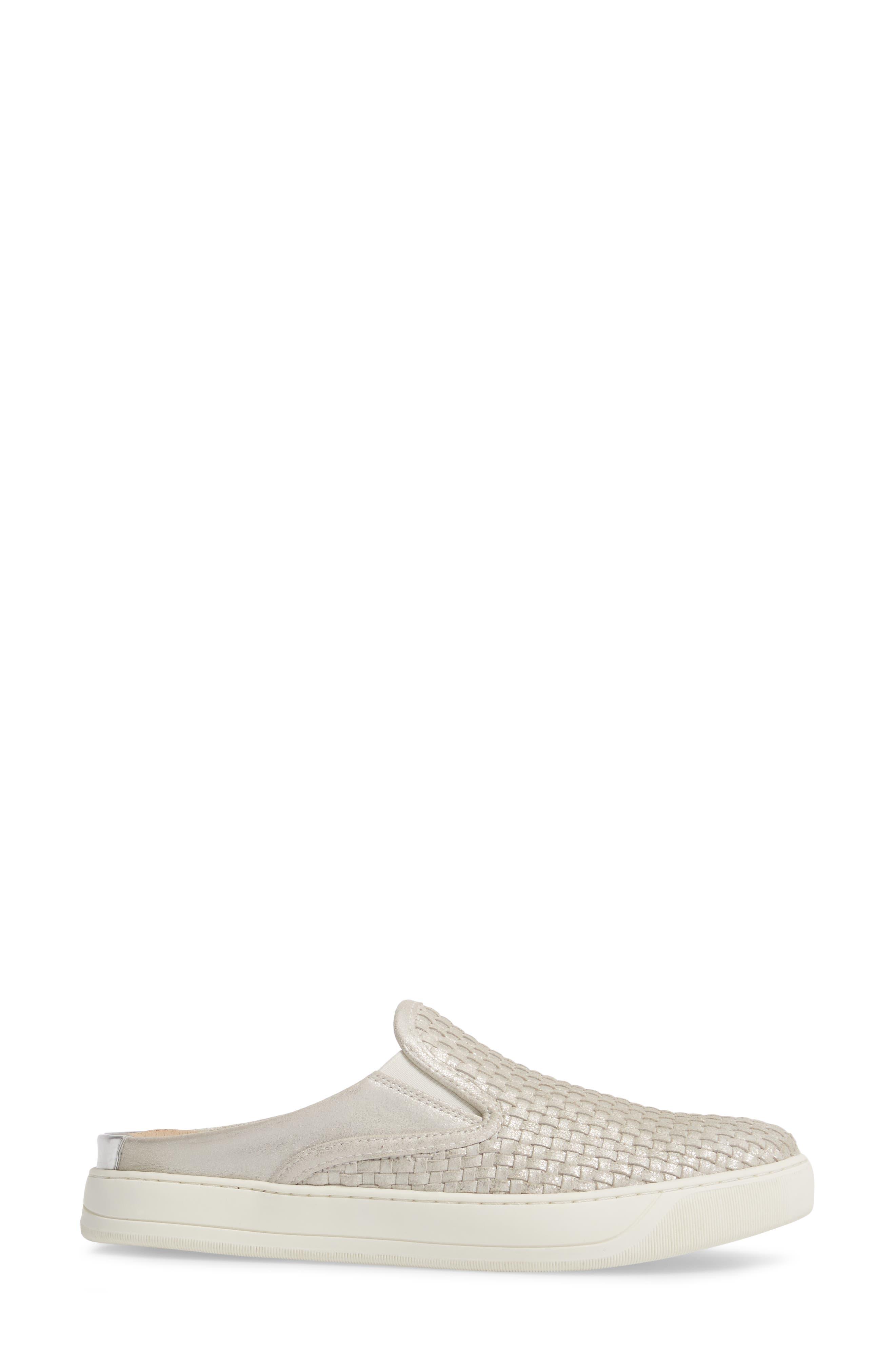 Evie Slip-On Sneaker,                             Alternate thumbnail 3, color,                             ICE LEATHER