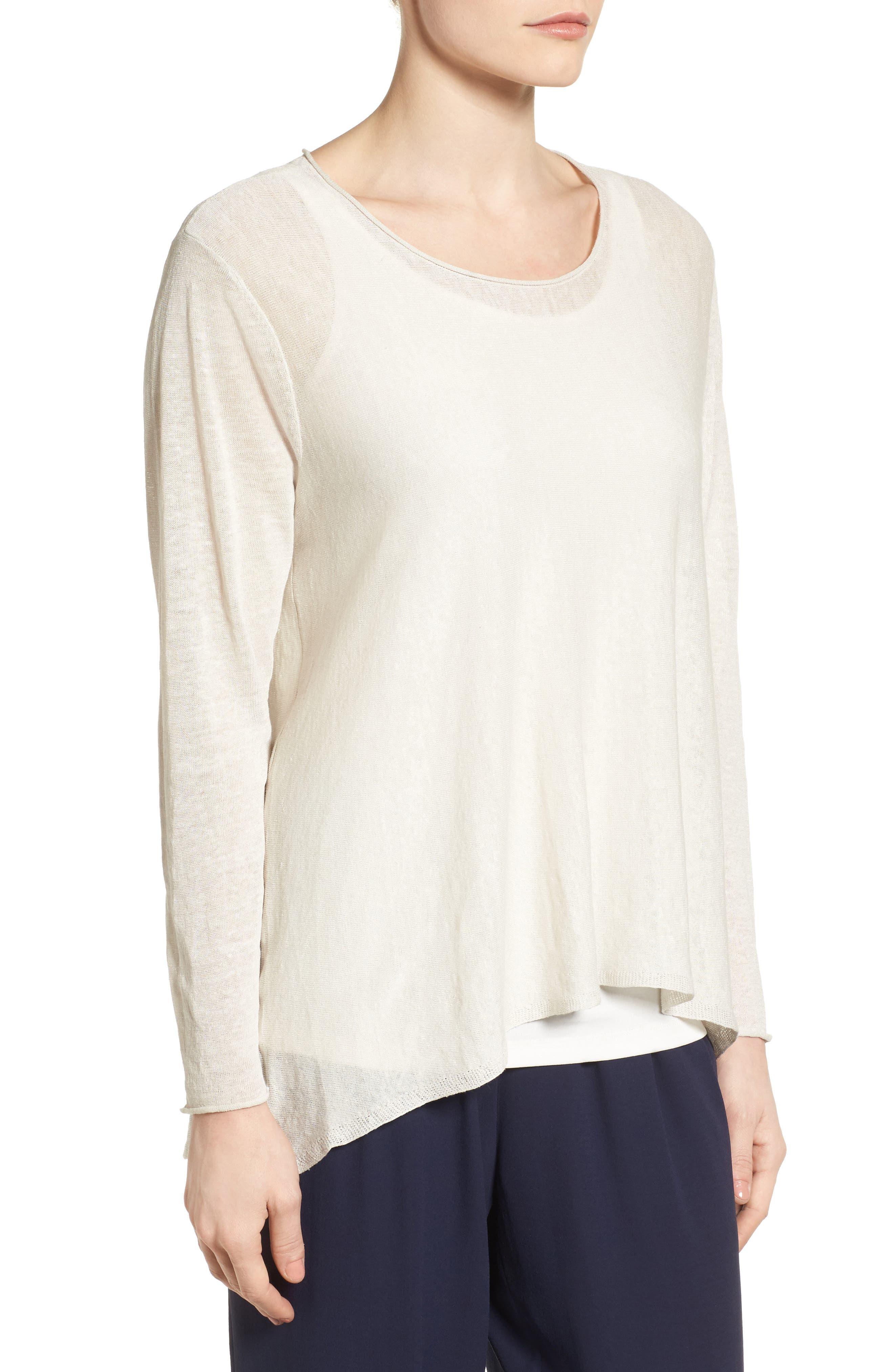 Organic Linen Blend Swing Sweater,                             Alternate thumbnail 23, color,