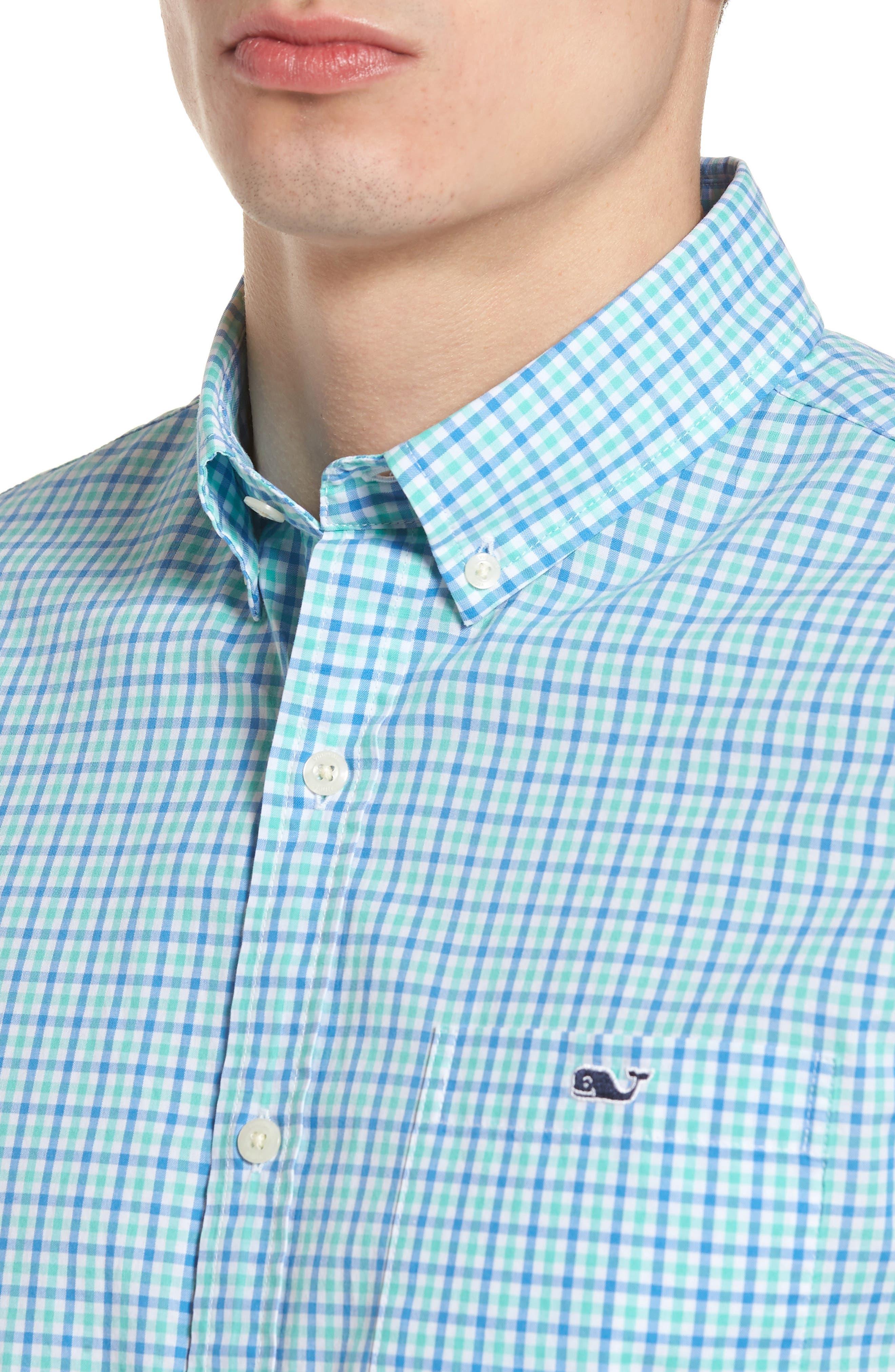 Tipsy Turtle Check Slim Fit Sport Shirt,                             Alternate thumbnail 10, color,