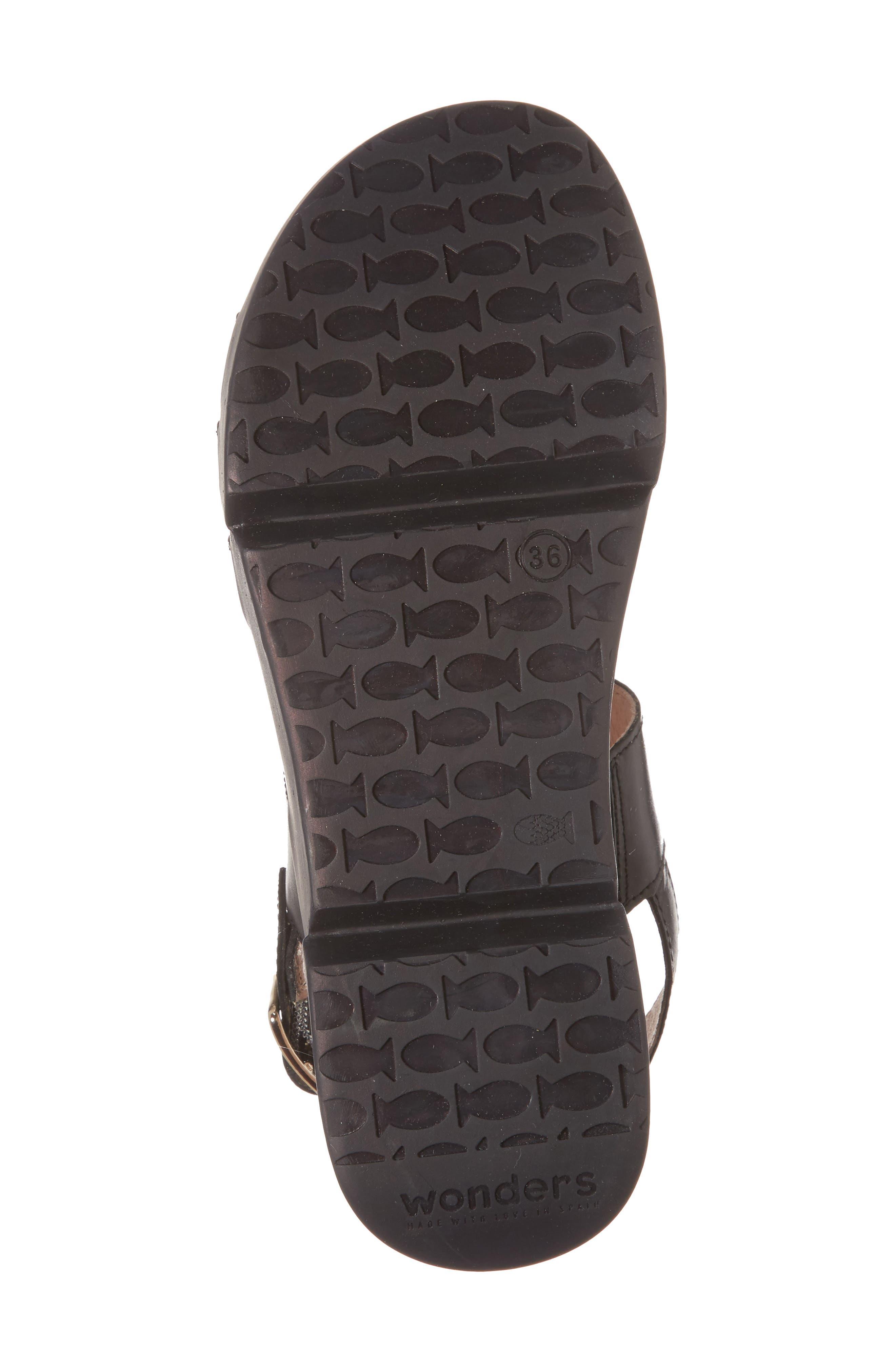 A-8004 Sandal,                             Alternate thumbnail 6, color,                             BLACK LEATHER