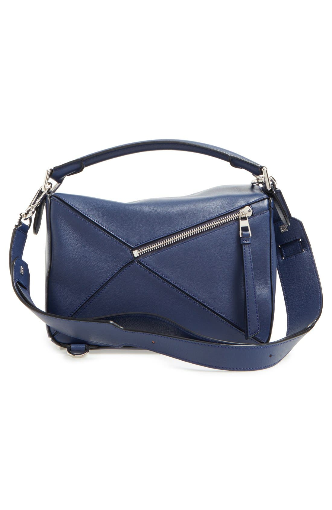 'Small Puzzle' Calfskin Leather Bag,                             Alternate thumbnail 24, color,