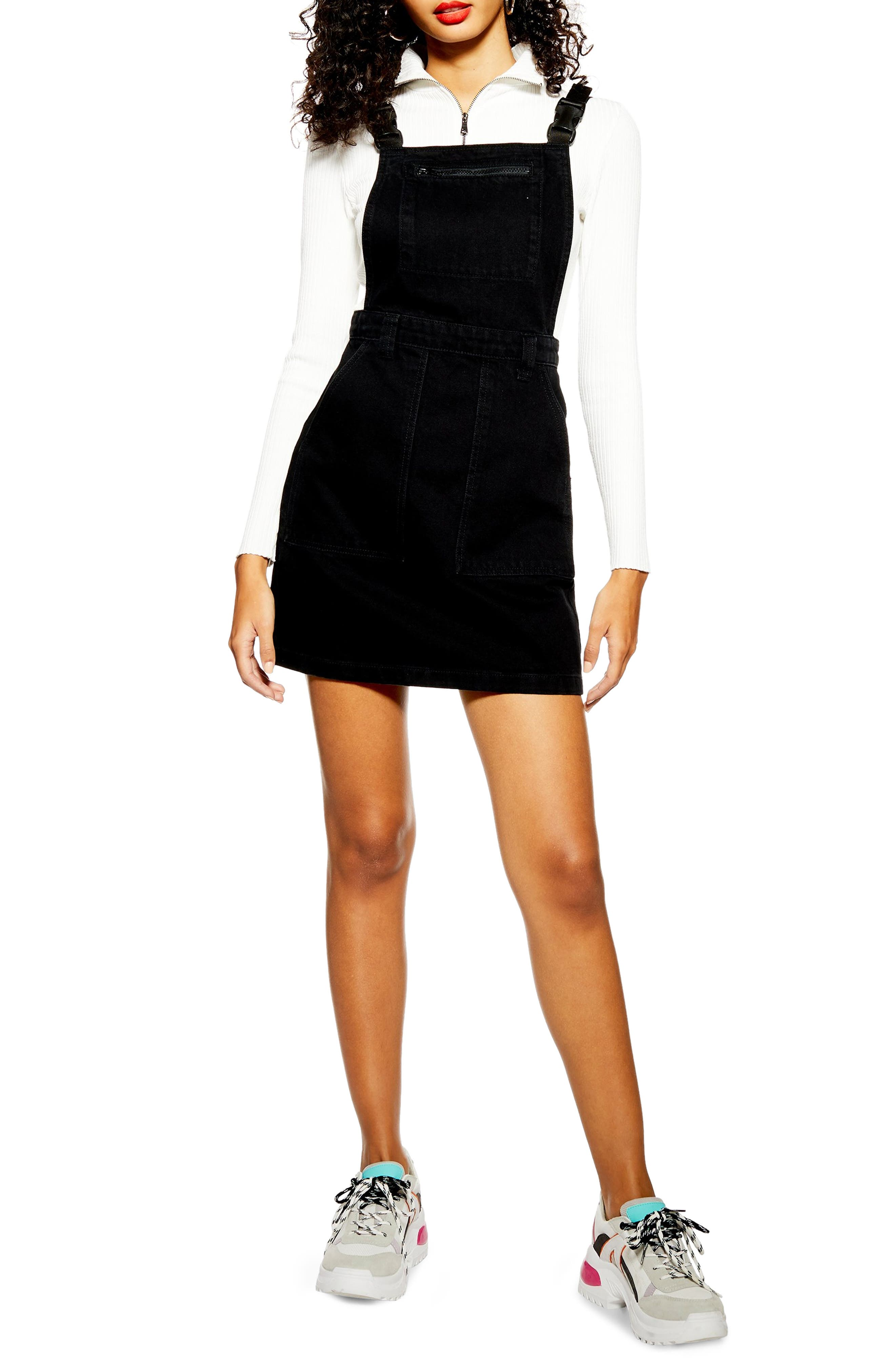 Topshop Pinafore Dress, US (fits like 0) - Black
