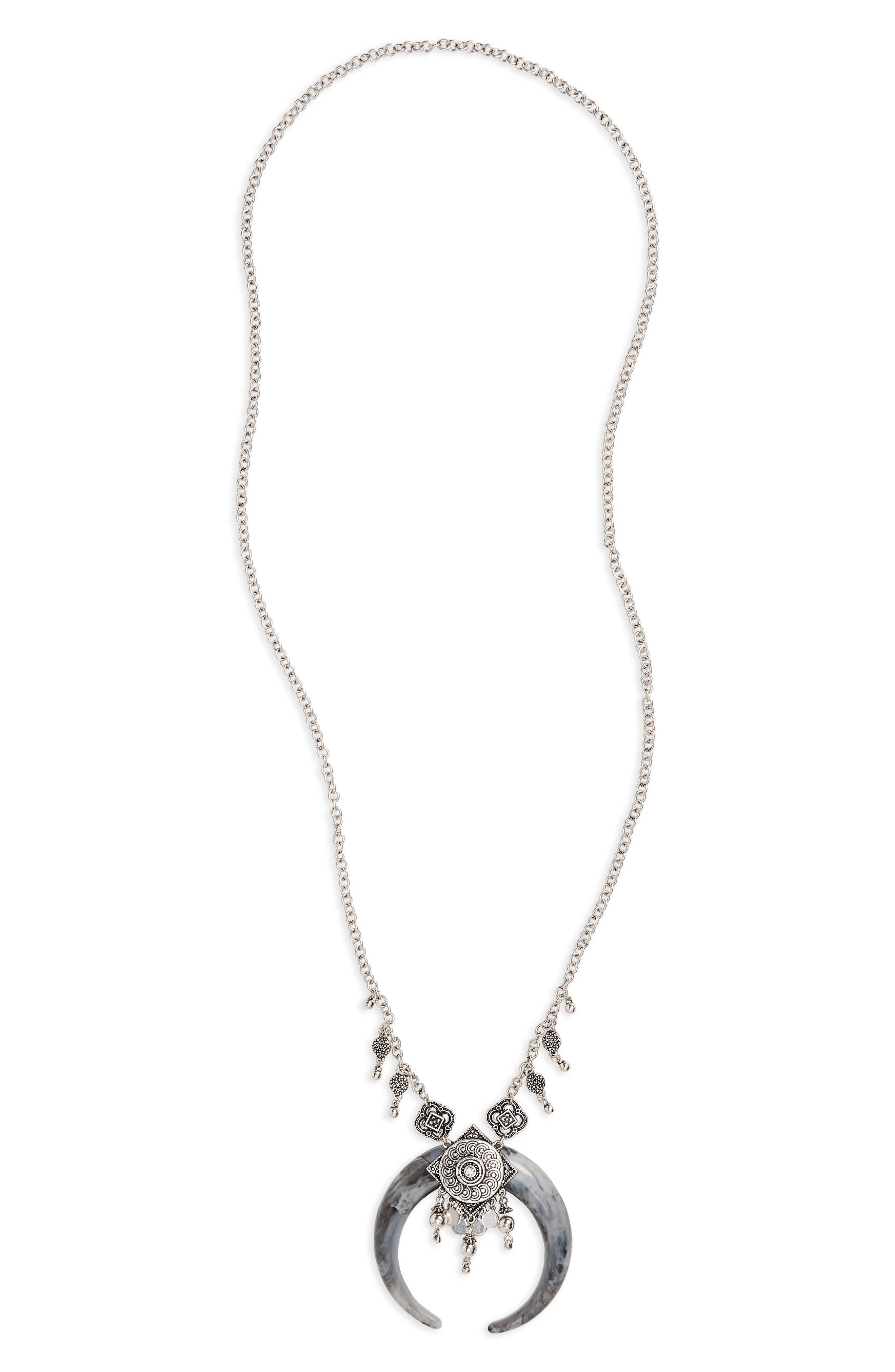 Mega Horn Pendant Necklace,                         Main,                         color, 040