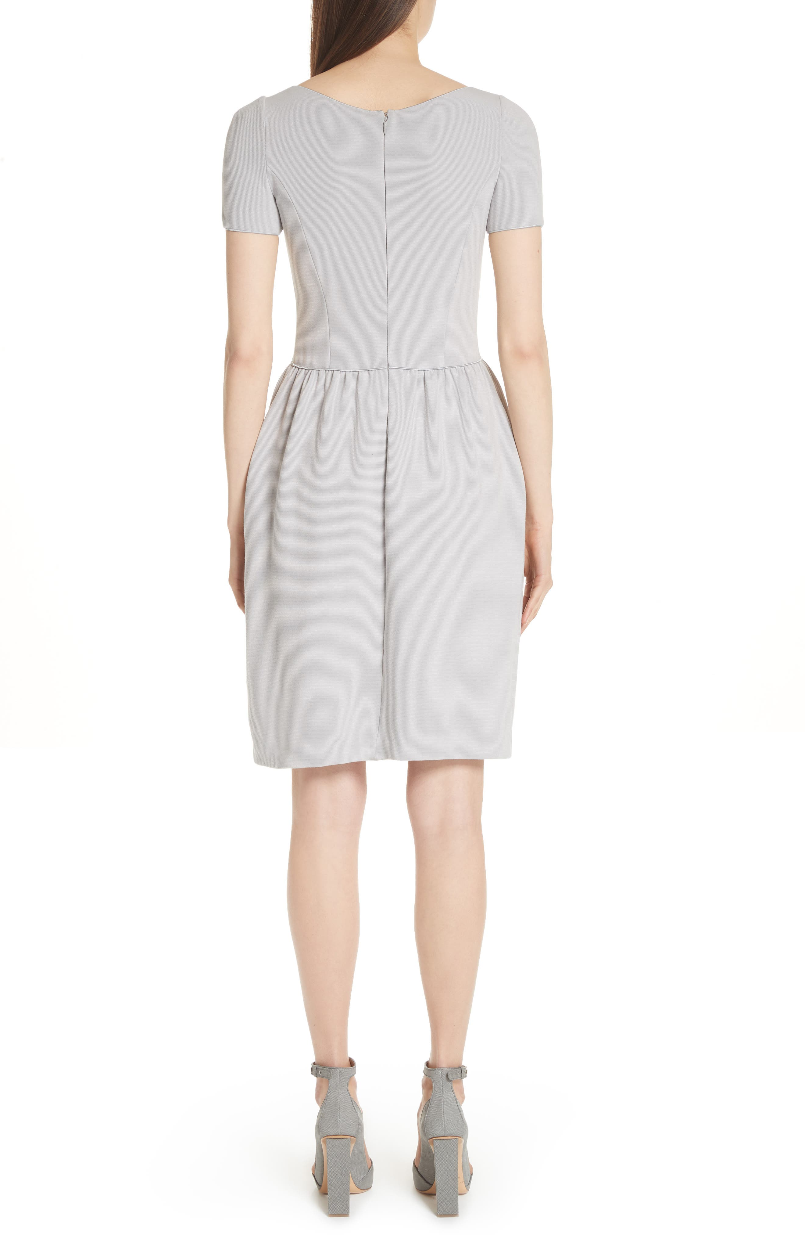 Seamed Ribbed Dress,                             Alternate thumbnail 2, color,                             PEARL GREY