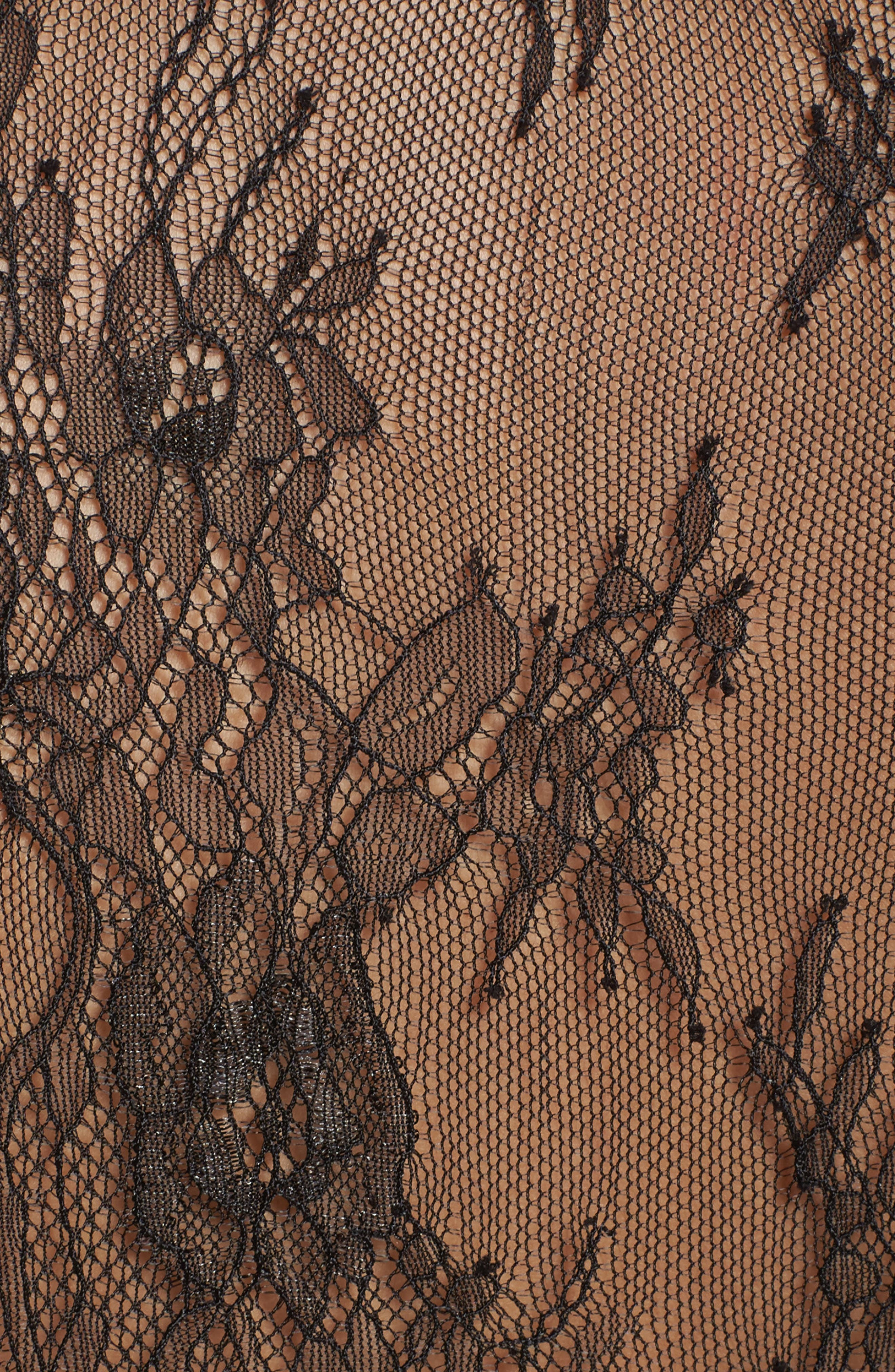 Intimately FP Chelsea Lace Robe,                             Alternate thumbnail 5, color,                             001