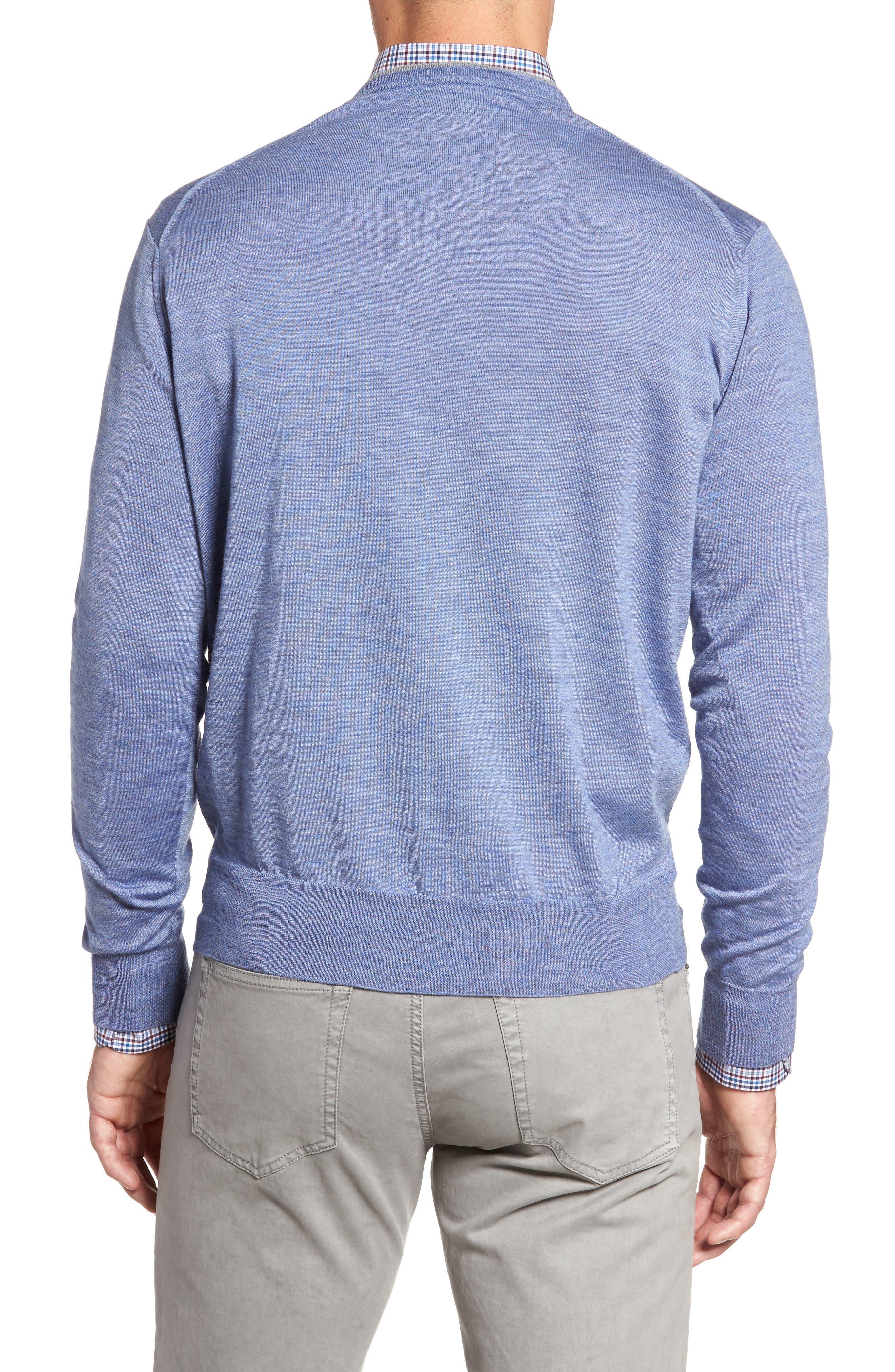 Merino Wool & Silk V-Neck Sweater,                             Alternate thumbnail 2, color,                             439