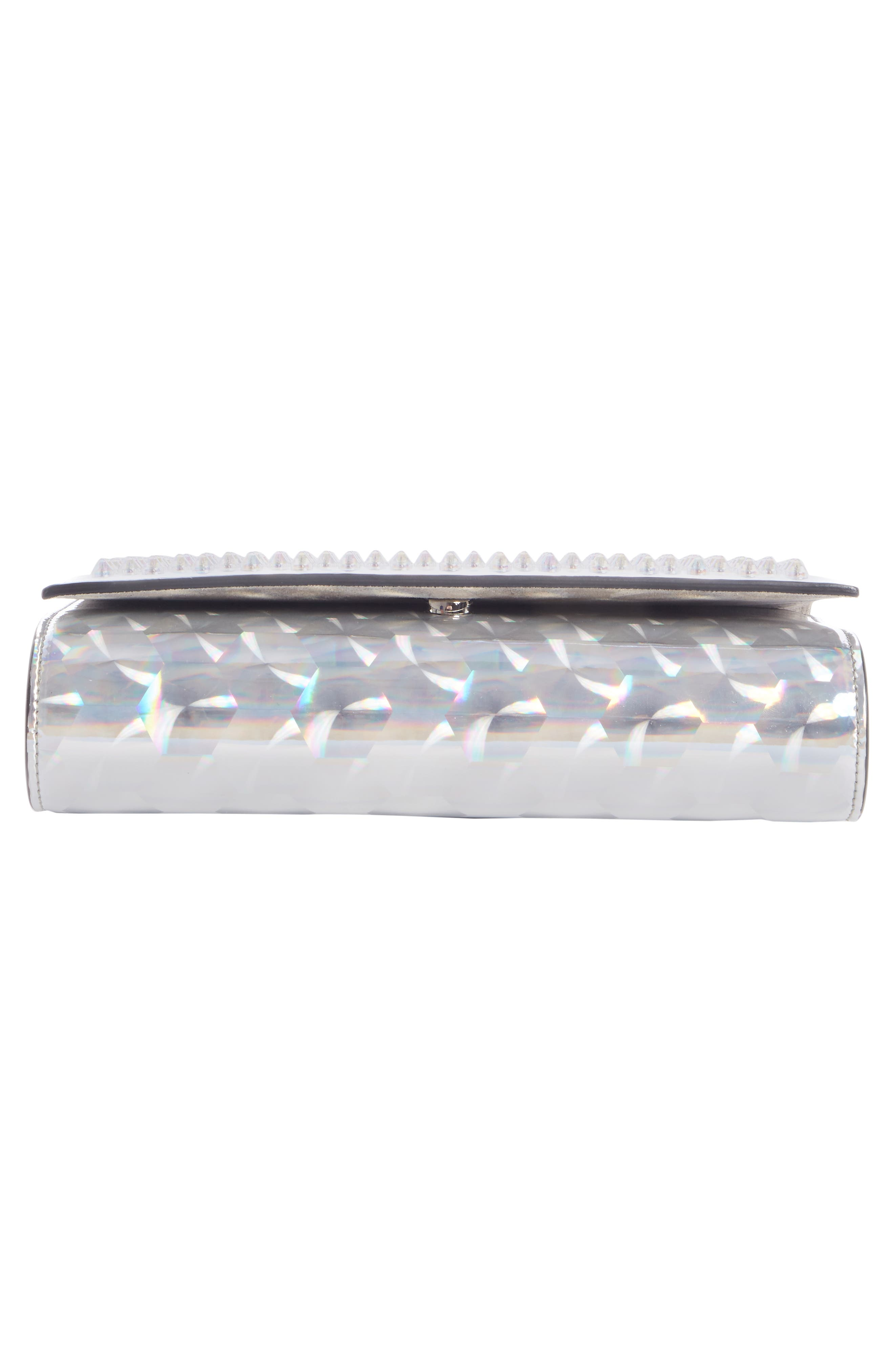 Paloma Studded Clutch,                             Alternate thumbnail 5, color,                             SILVER/ CLEAR AB