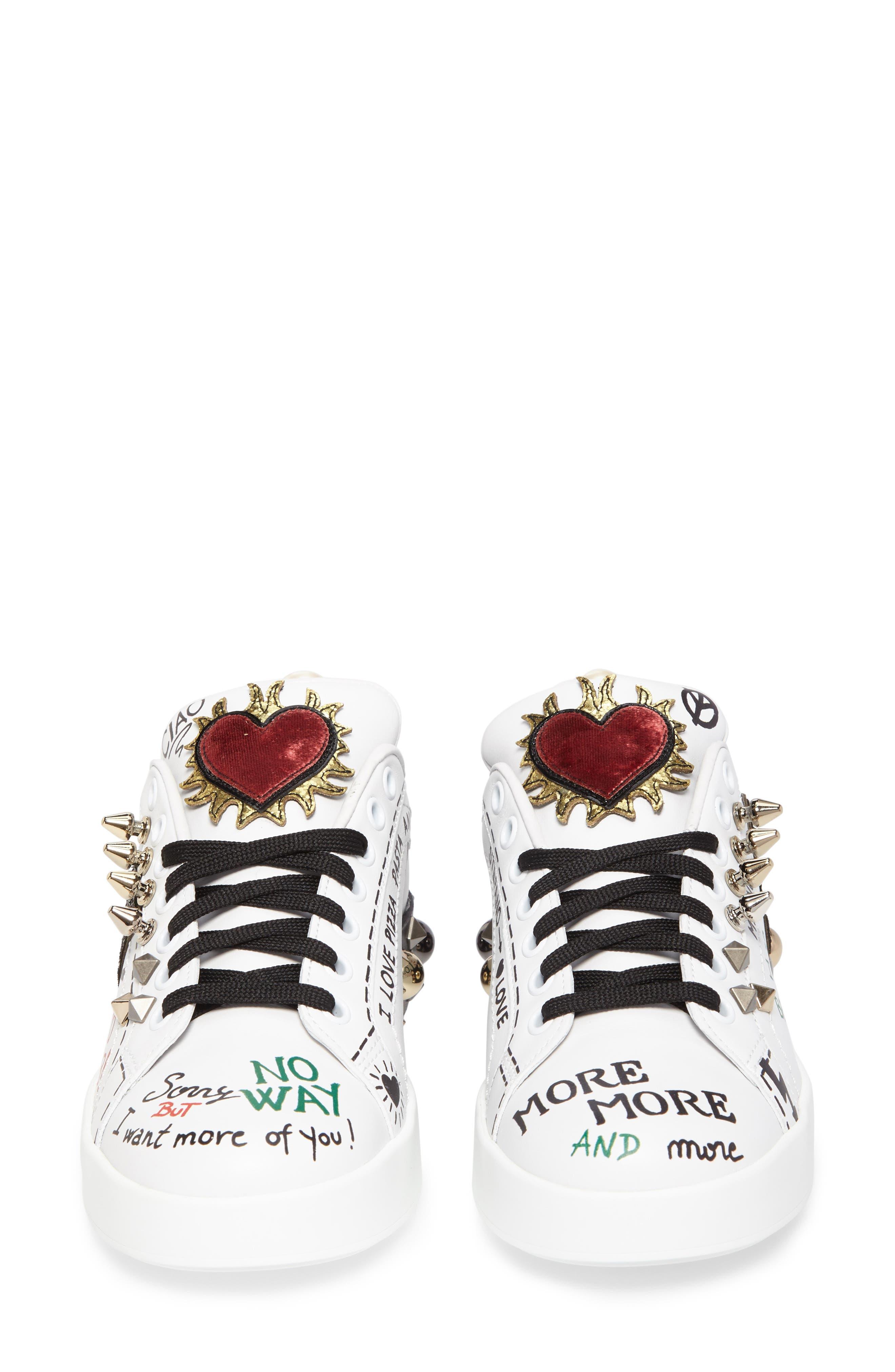 Mixed Media Sneaker,                             Alternate thumbnail 4, color,                             100