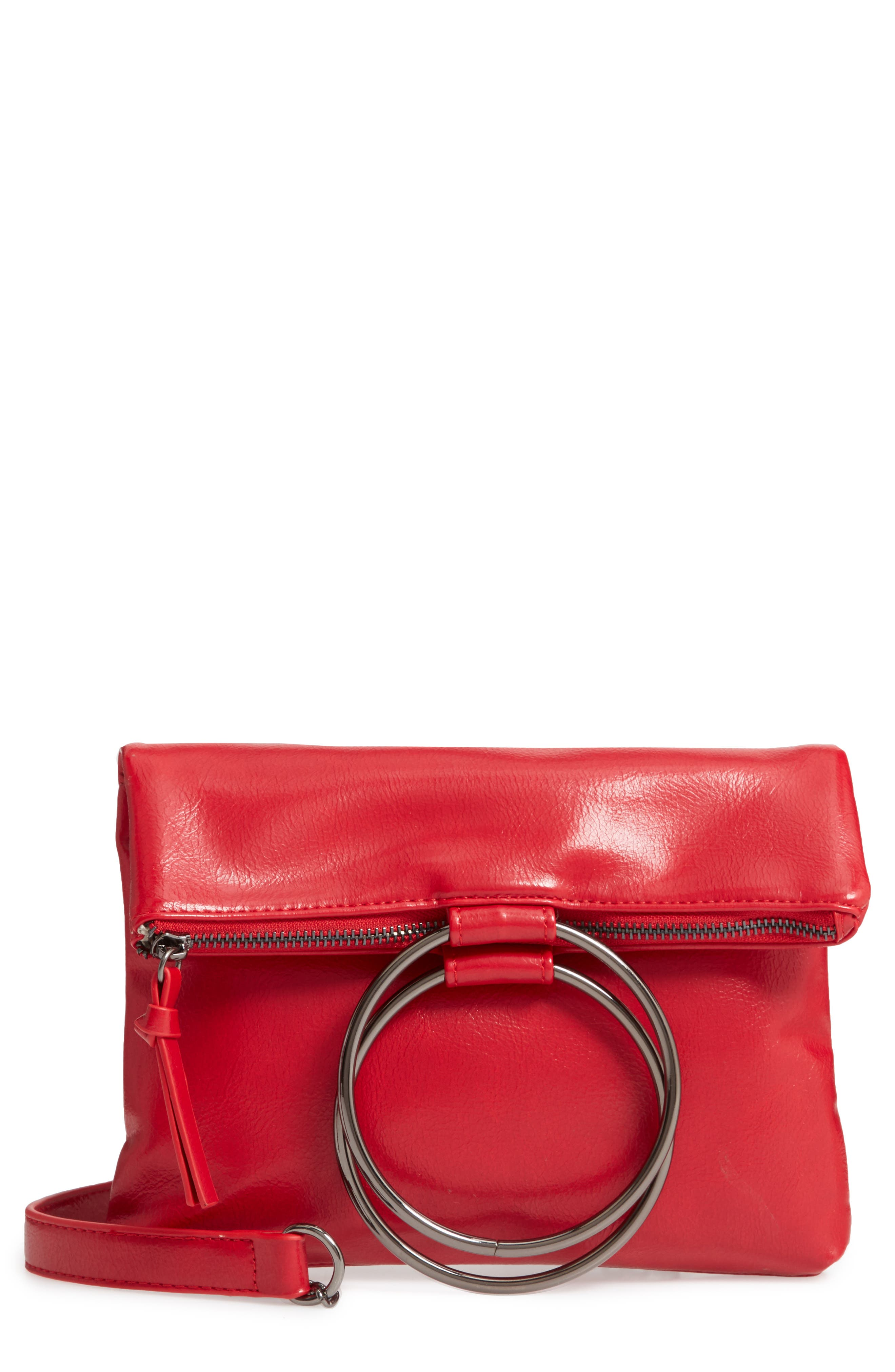 MUCHE ET MUCHETTE Clare Ring Handle Faux Leather Crossbody Bag - Red