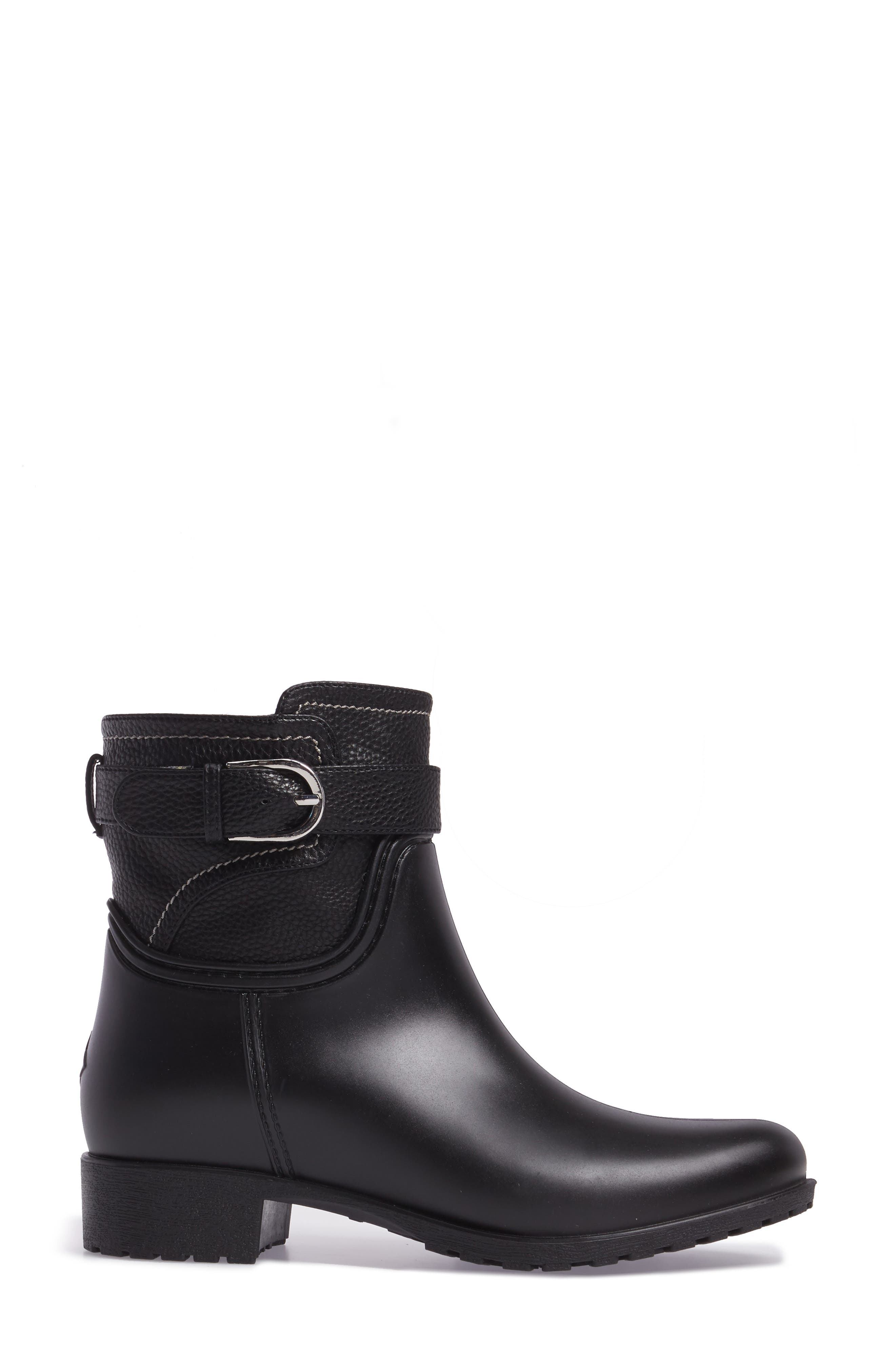 Bowie Faux Water Resistant Mid Boot,                             Alternate thumbnail 3, color,                             001