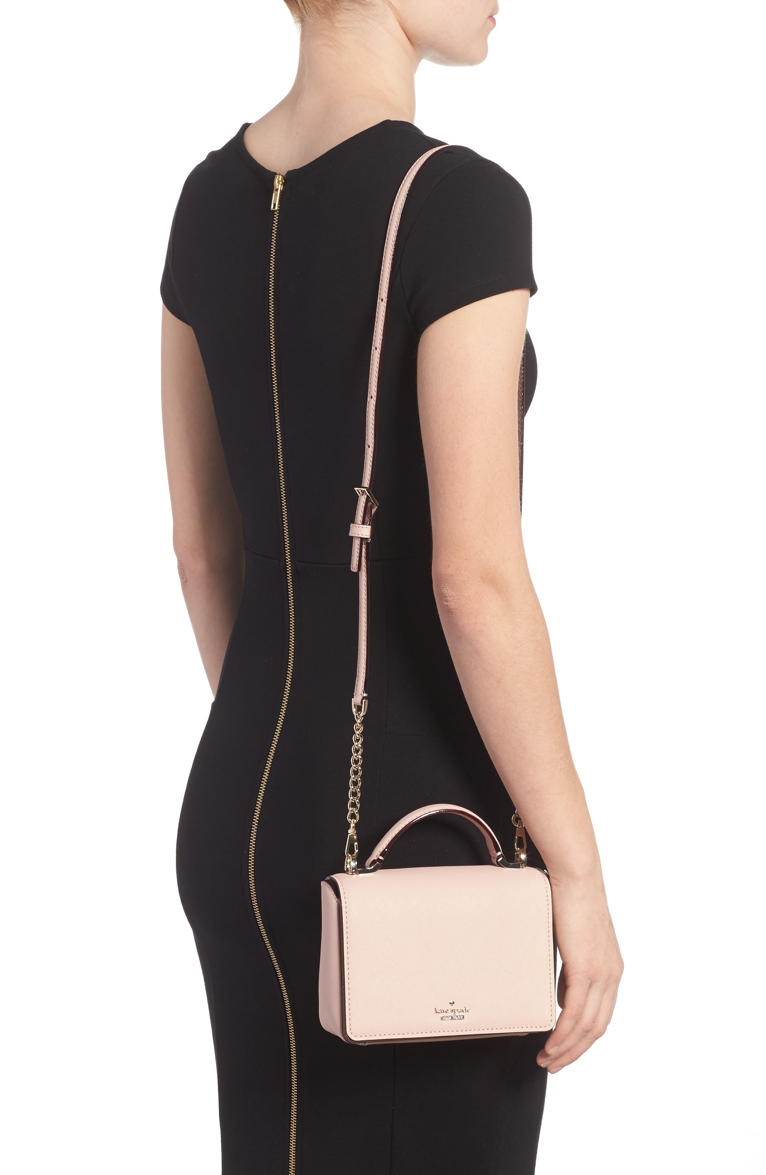 cameron street - hope saffiano leather crossbody bag,                             Alternate thumbnail 6, color,