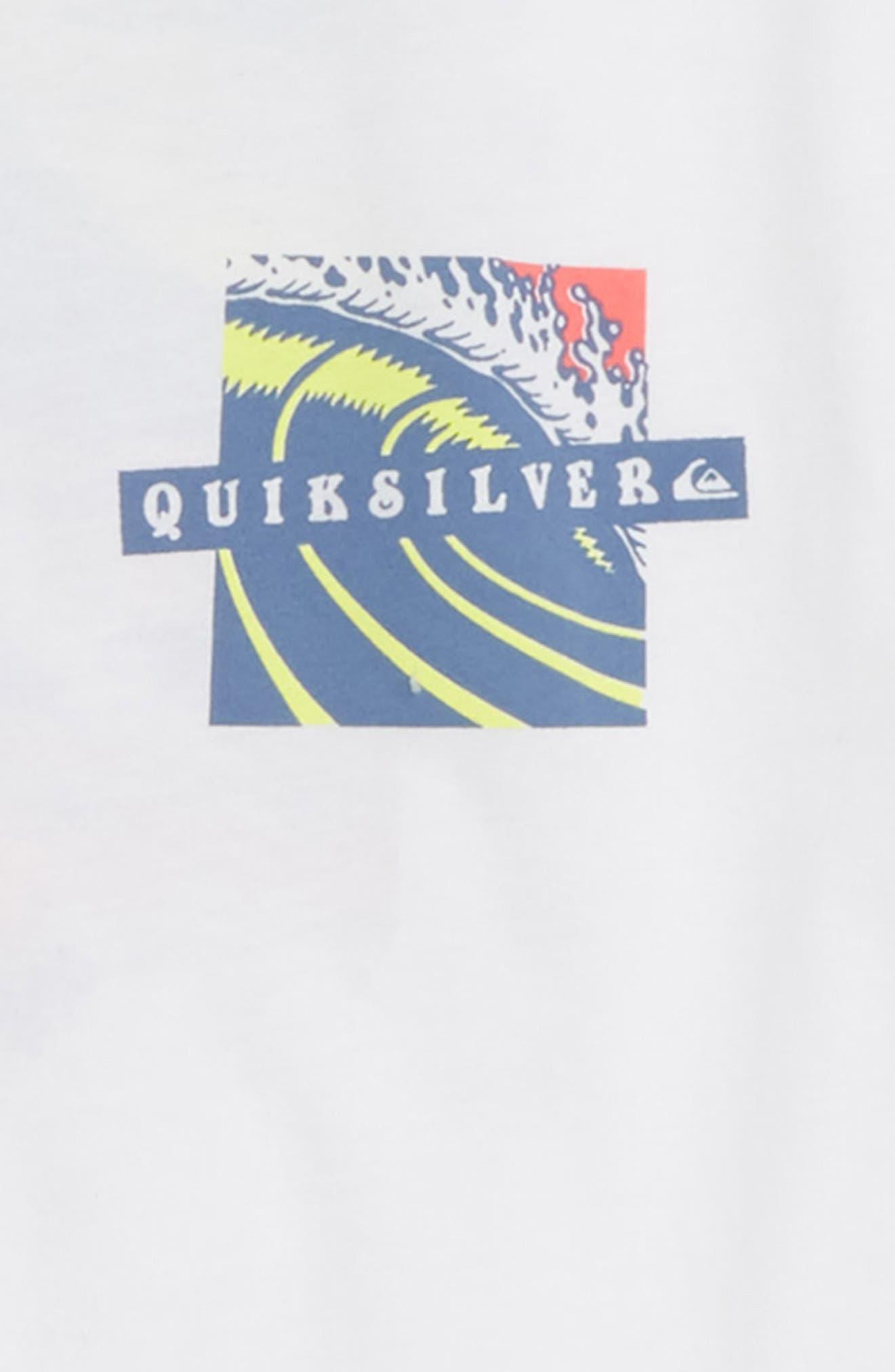 Tropical Eruption Graphic T-Shirt,                             Alternate thumbnail 3, color,                             WHITE