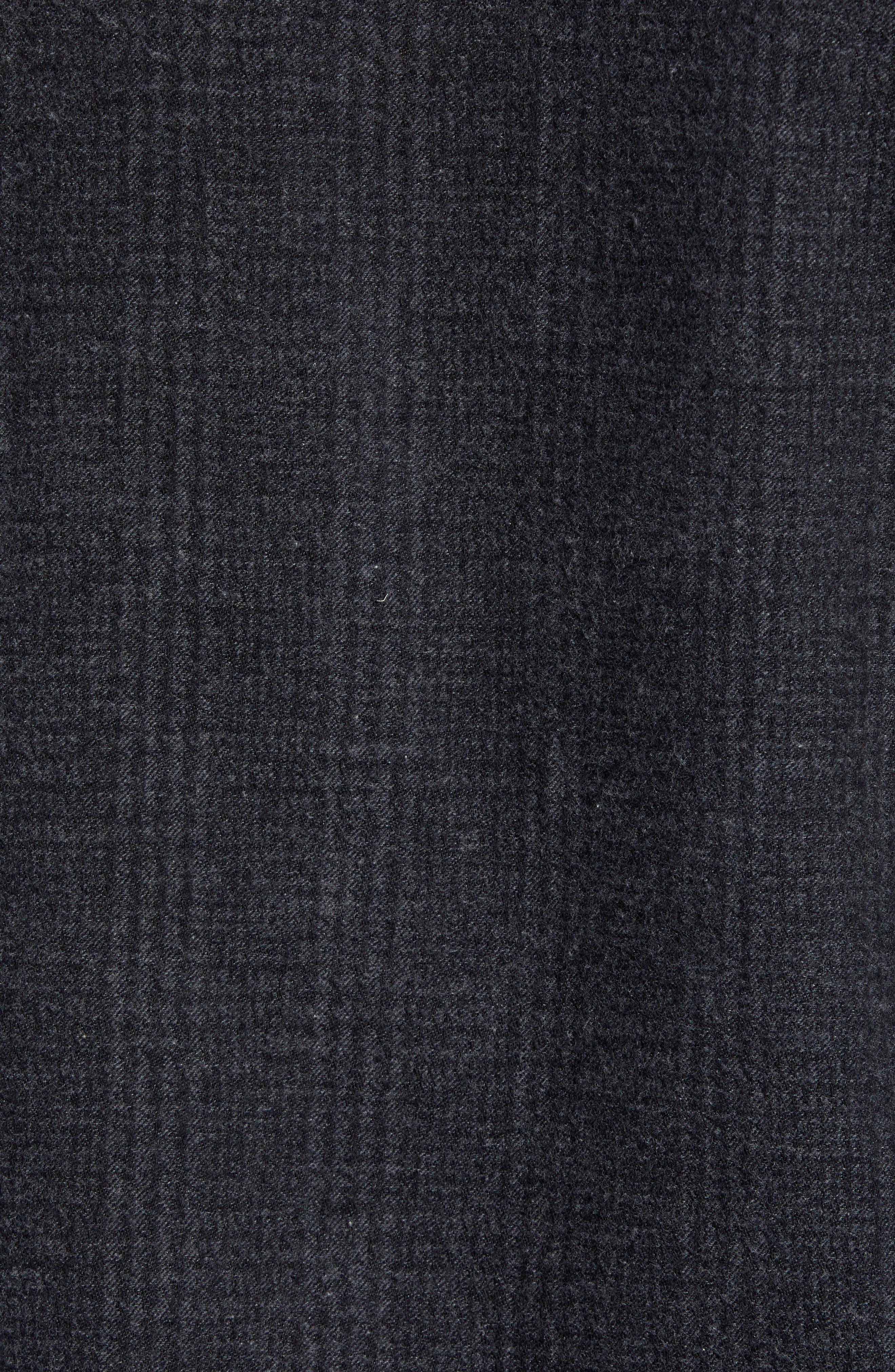 Walker Regular Fit Flannel Sport Shirt,                             Alternate thumbnail 5, color,                             CHARCOAL