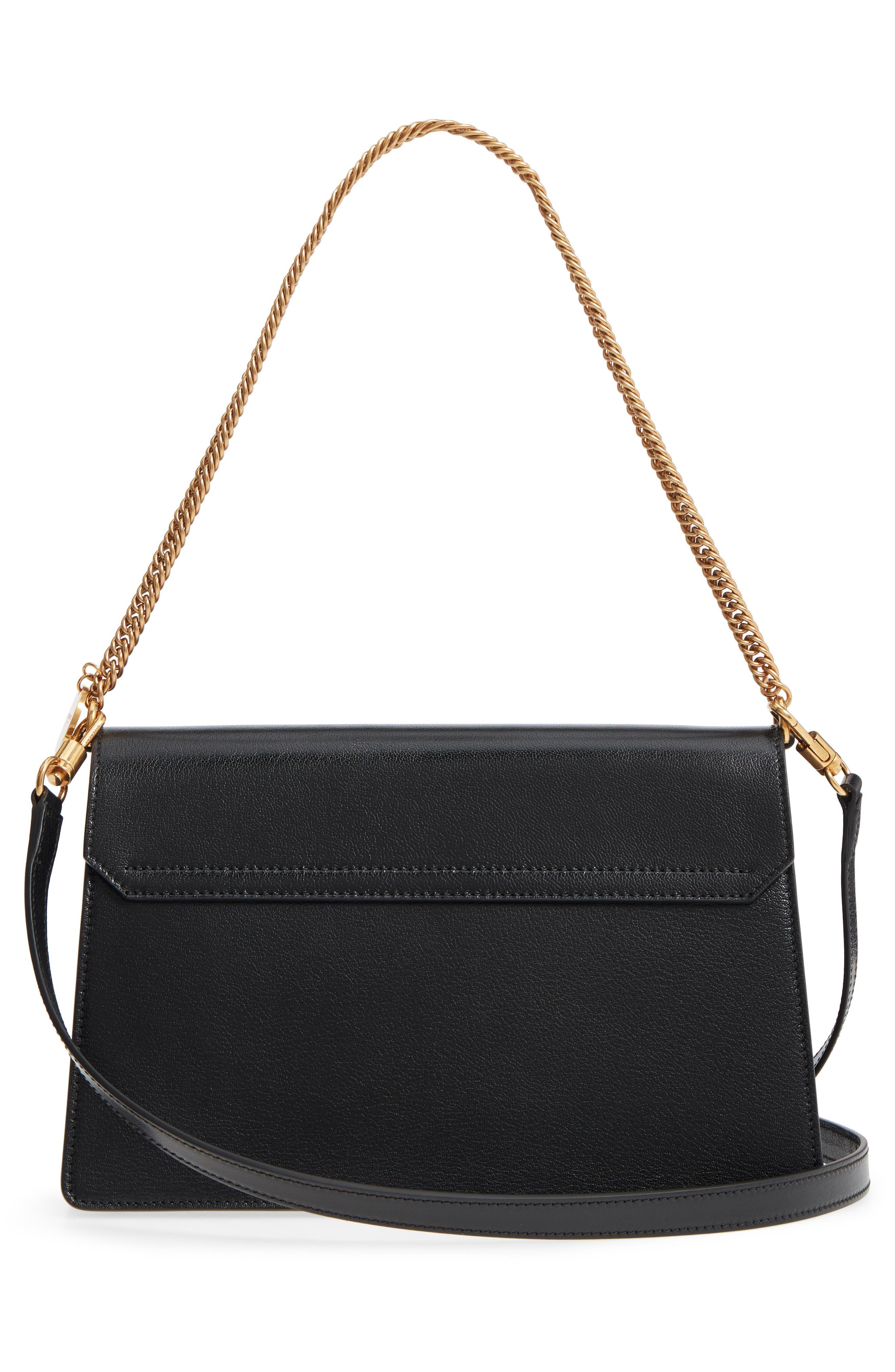 Medium GV3 Leather Crossbody Bag,                             Alternate thumbnail 3, color,                             BLACK/ GREY