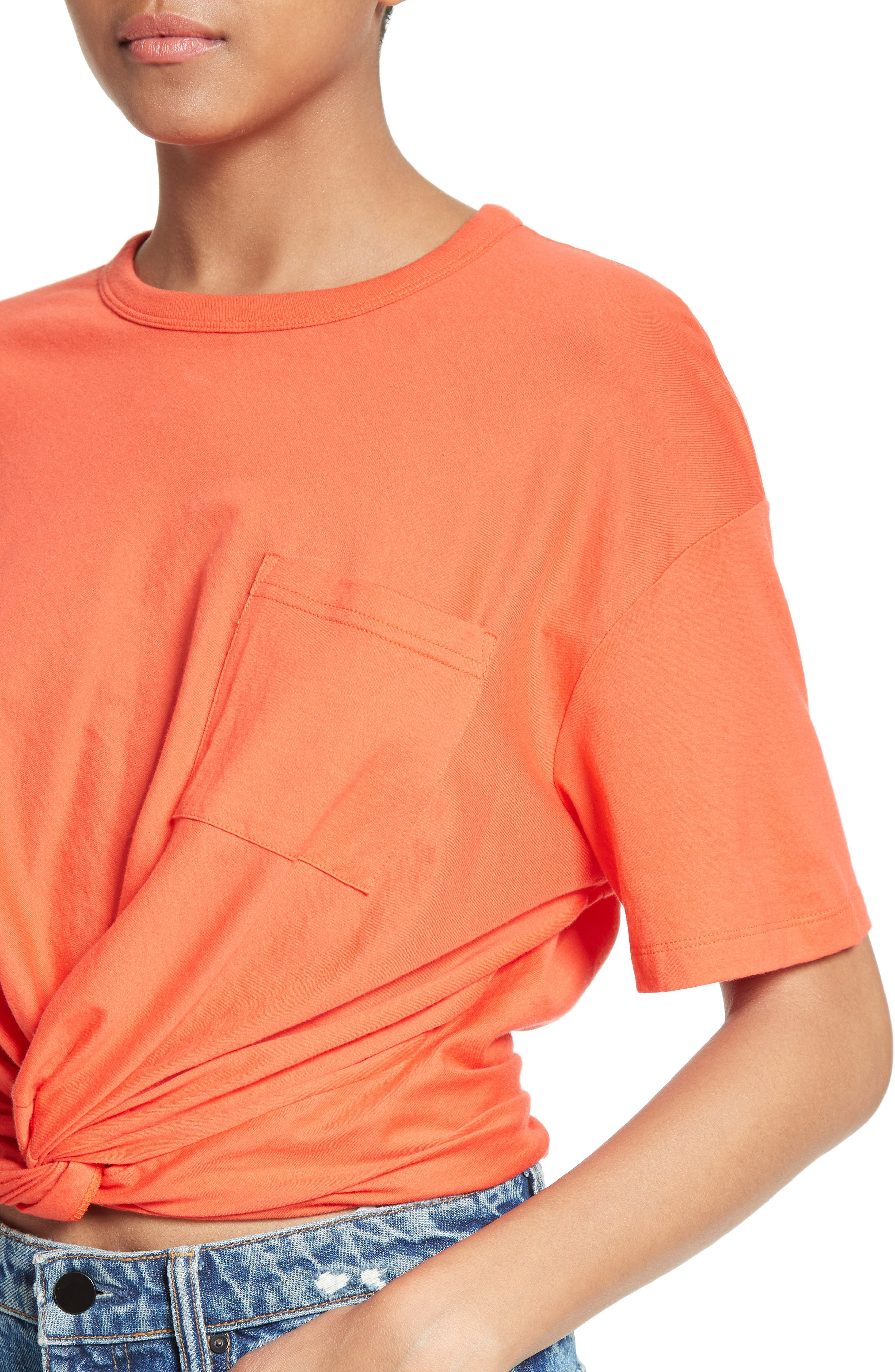 T by Alexander Wang Twist Front Tee,                             Alternate thumbnail 4, color,                             624