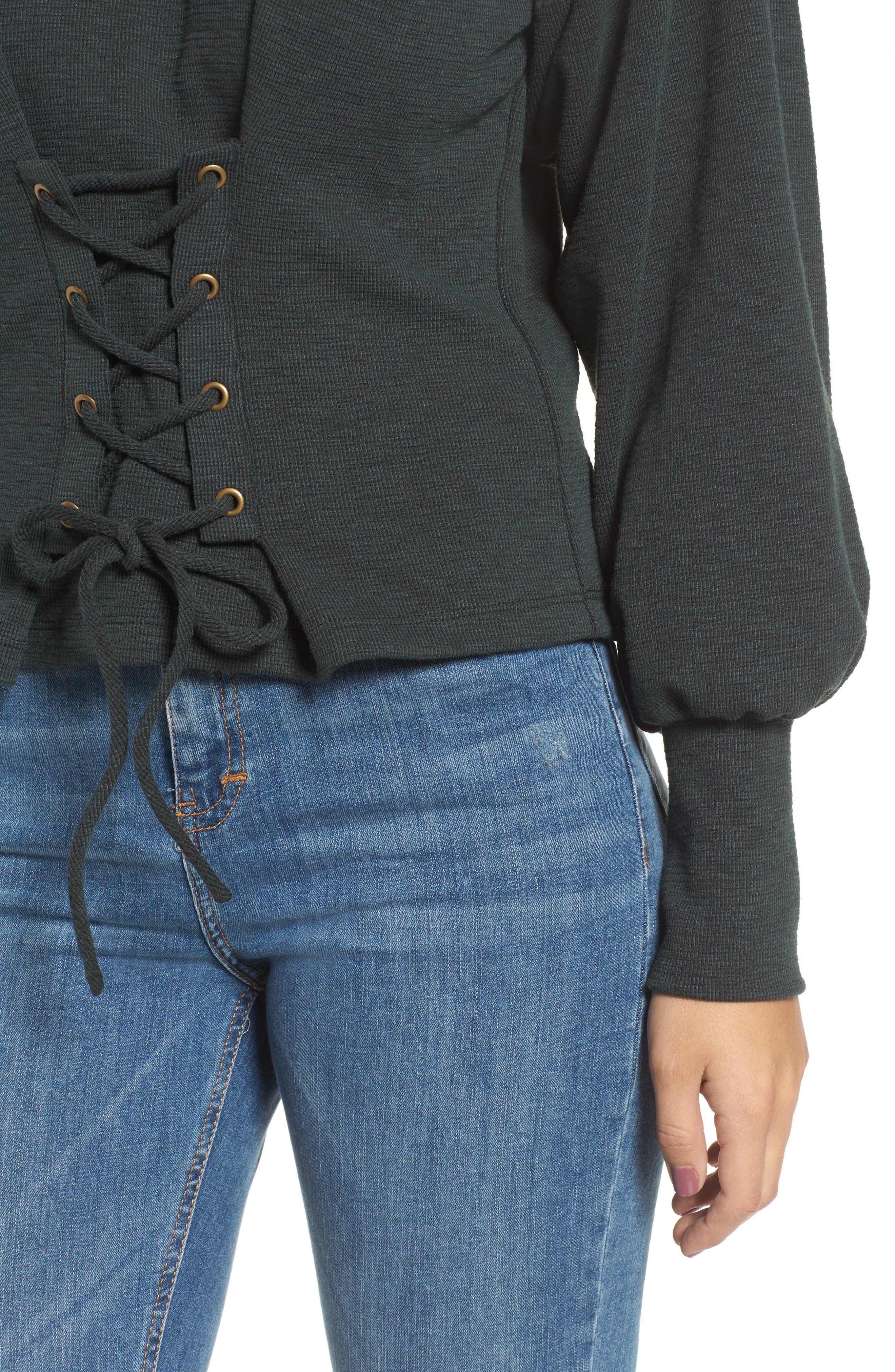 Corset Sweatshirt,                             Alternate thumbnail 4, color,                             300