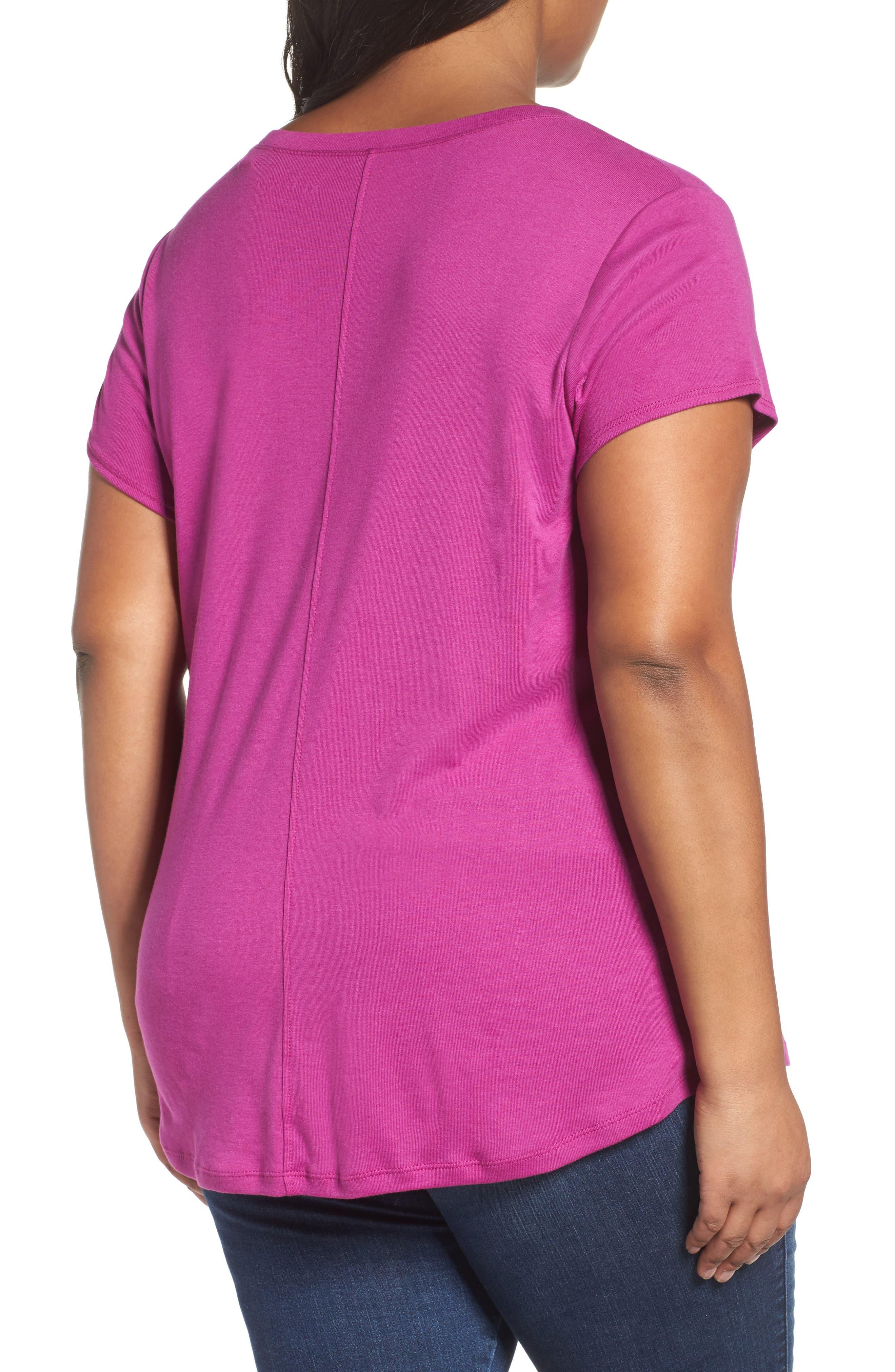 Short Sleeve V-Neck Tee,                             Alternate thumbnail 59, color,