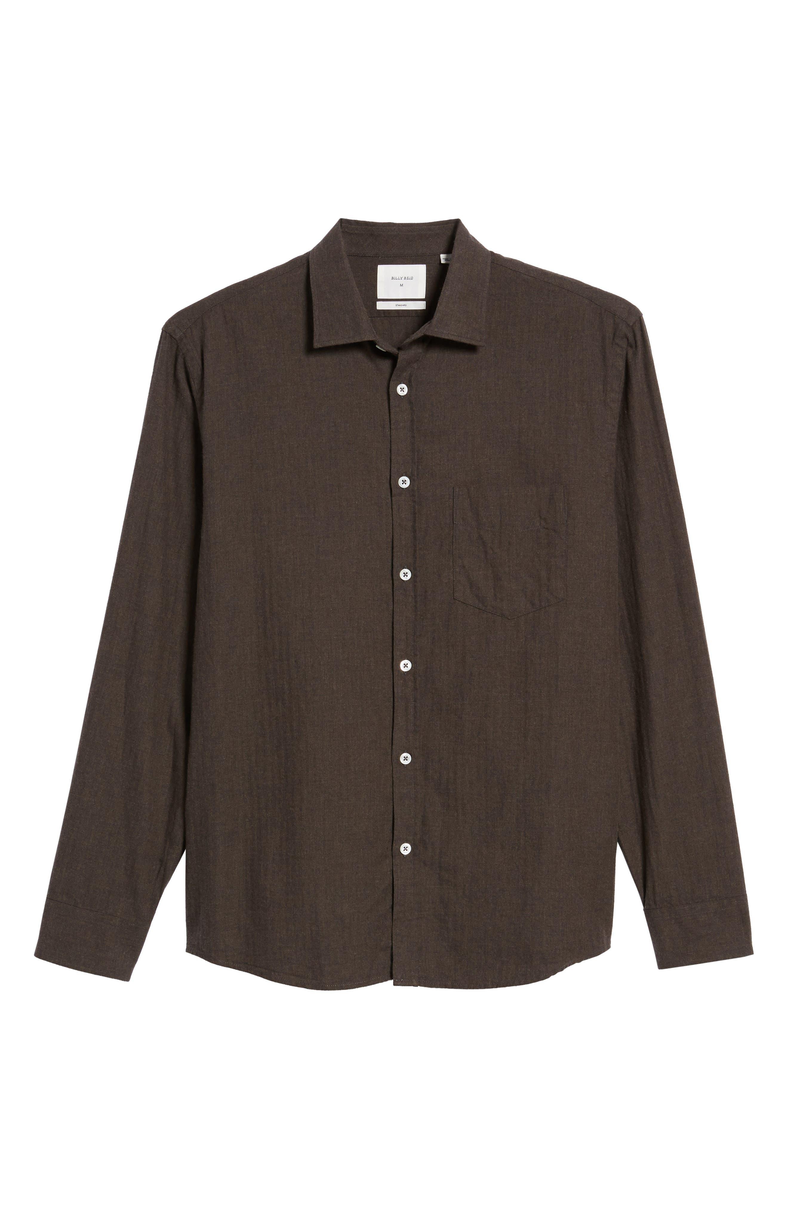 John T Standard Fit Herringbone Shirt,                             Alternate thumbnail 6, color,                             200