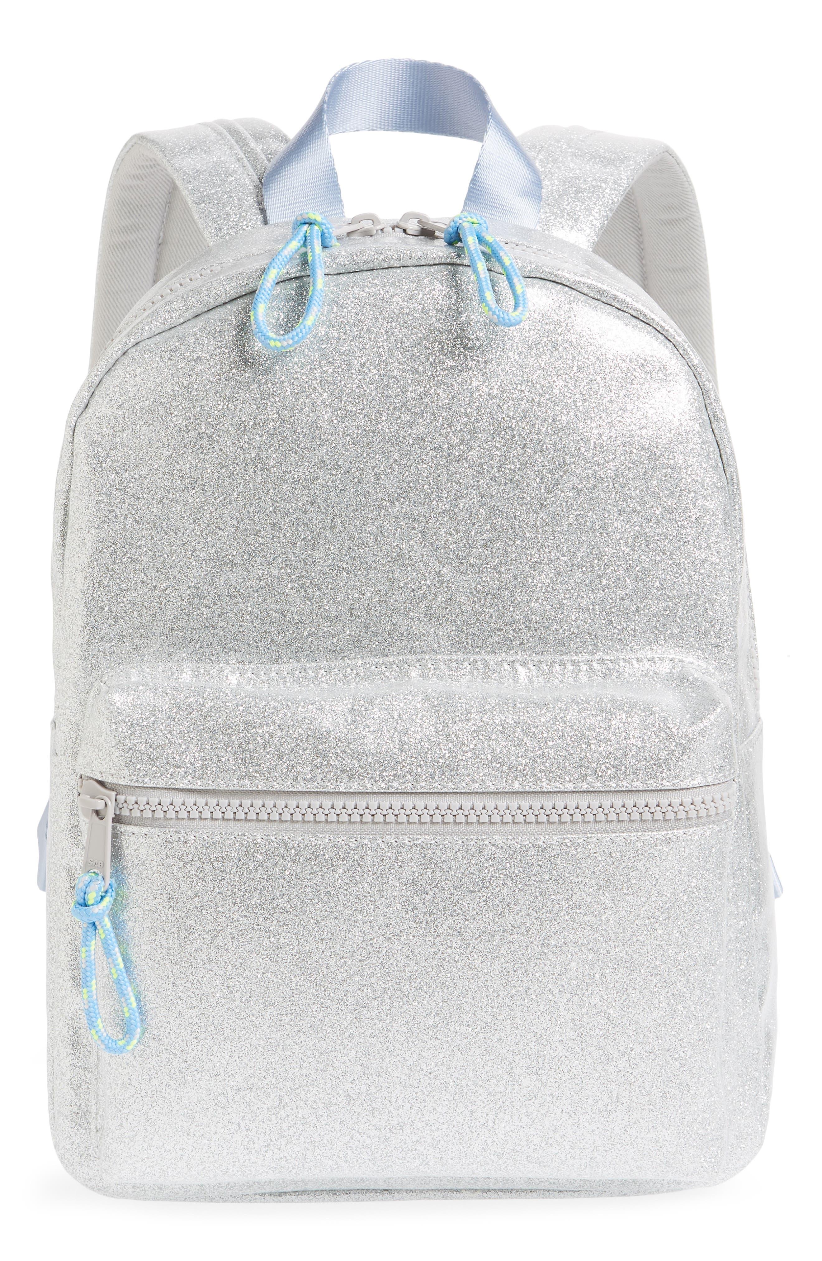 Girls Crewcuts By Jcrew Glitter Mini Backpack  Grey