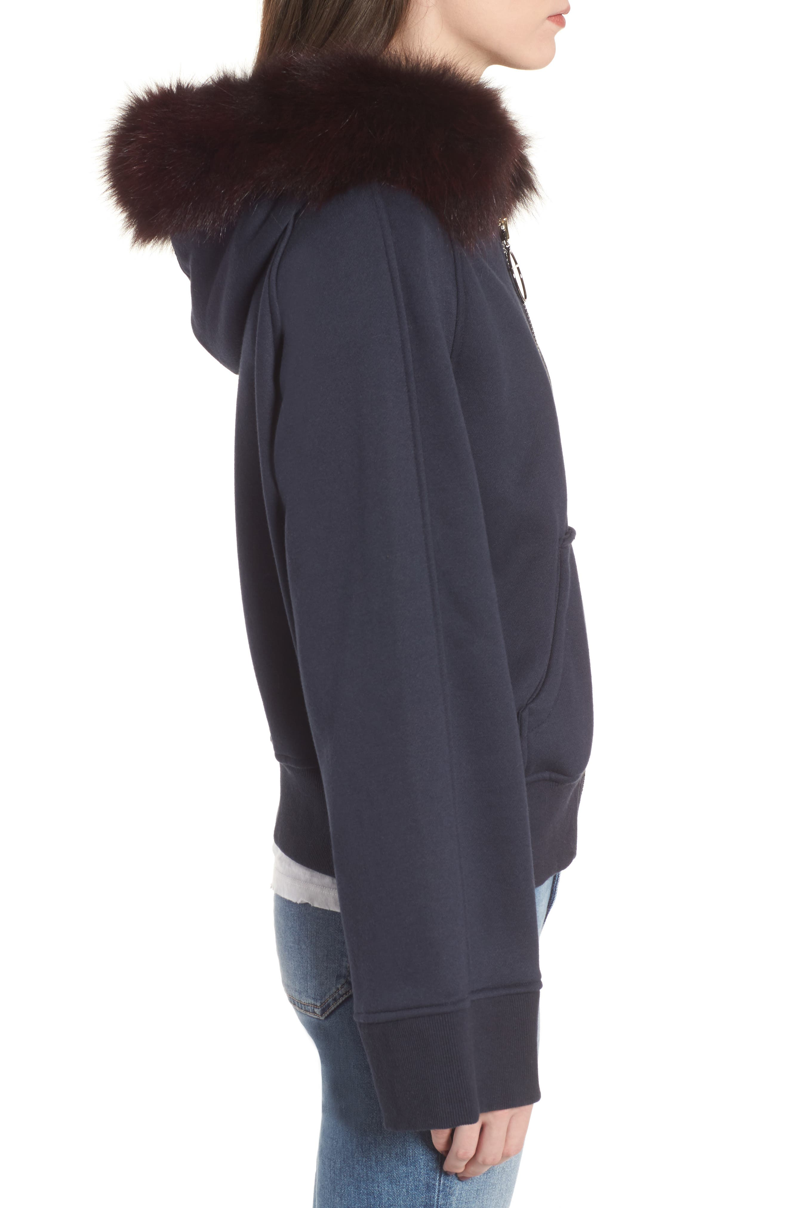 BAGATELLE.CITY The Luxe Hooded Jacket with Genuine Fox Fur Trim,                             Alternate thumbnail 8, color,