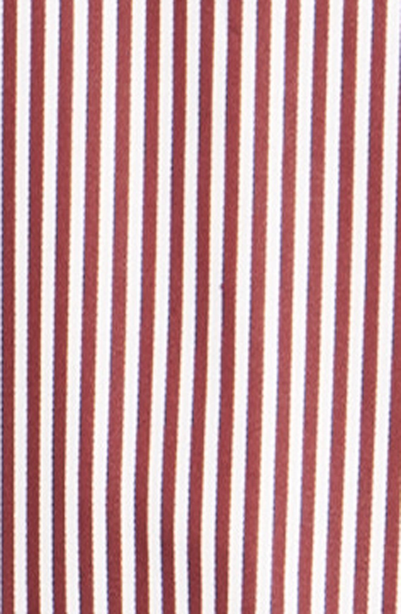 Luther Classic Fit Stripe Sport Shirt,                             Alternate thumbnail 6, color,                             BURGUNDY