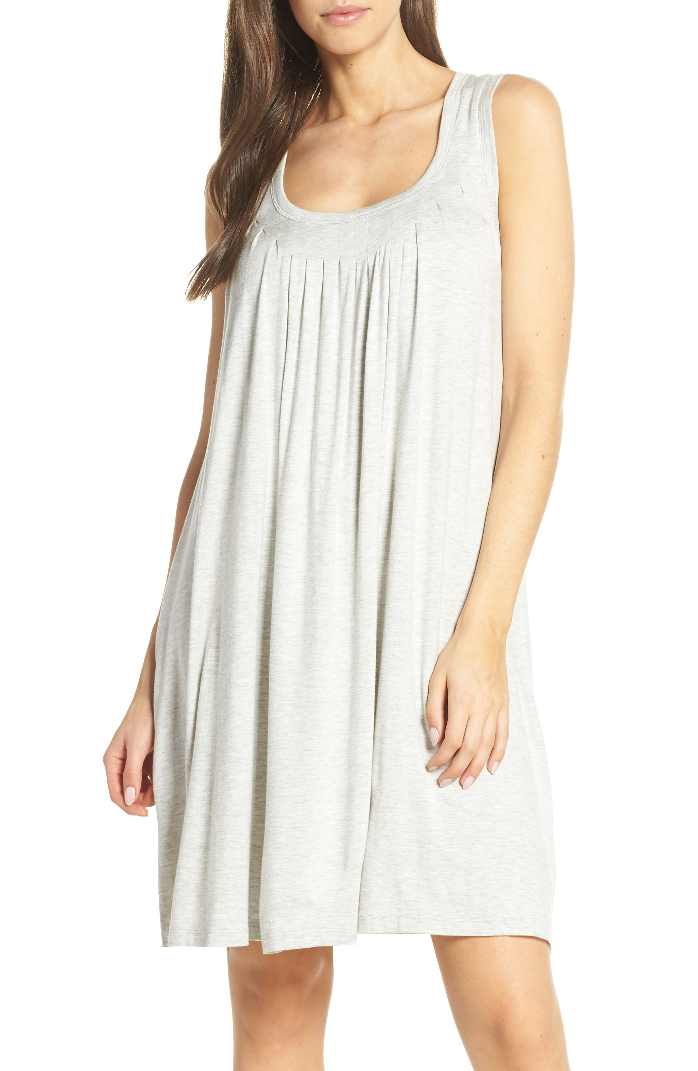 Papinelle Pleat Nightgown, Grey