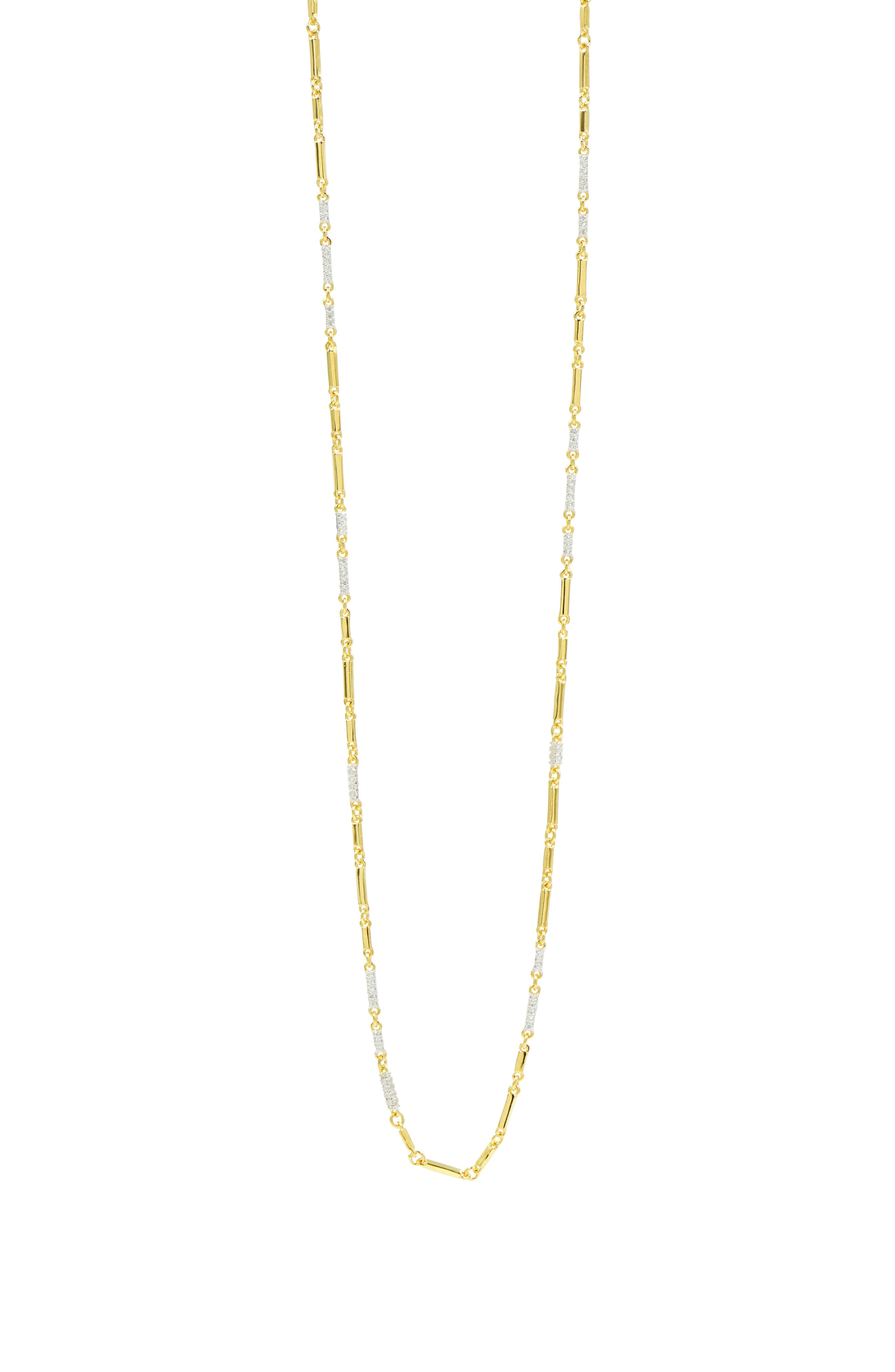 Radiance Cubic Zirconia Chain Necklace,                             Alternate thumbnail 2, color,                             SILVER/ GOLD