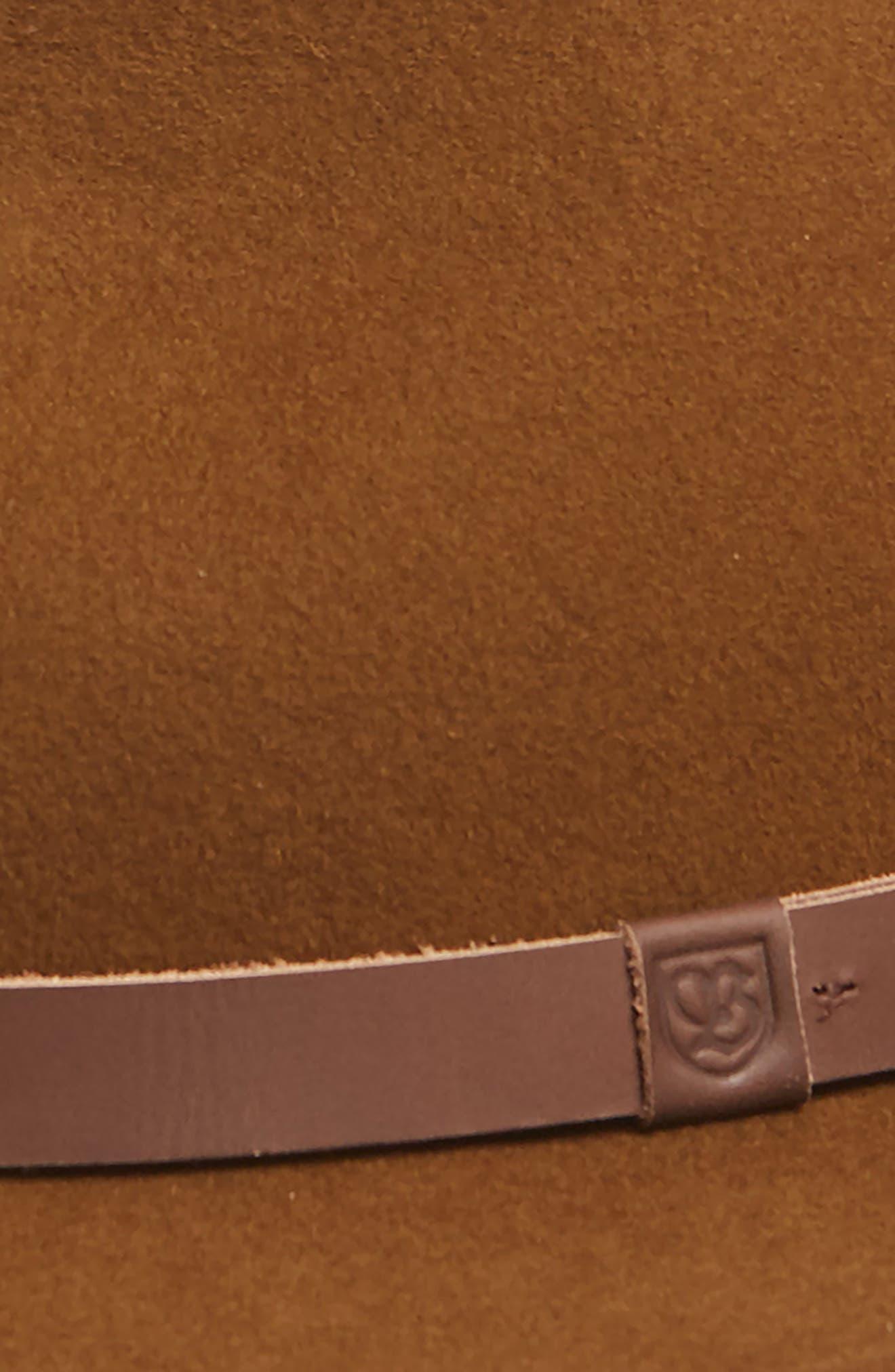 Messer II Felted Wool Fedora,                             Alternate thumbnail 2, color,                             COFFEE