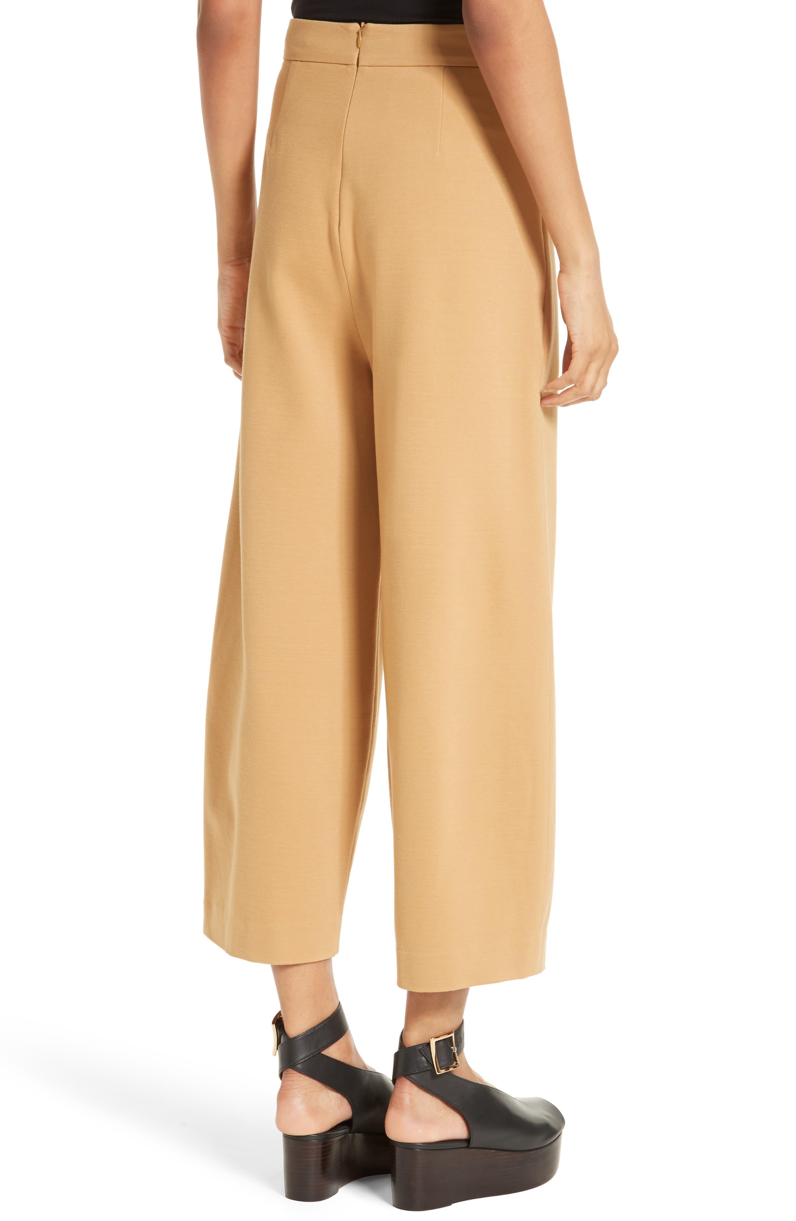 High Rise Knit Crop Wide Leg Pants,                             Alternate thumbnail 2, color,                             246