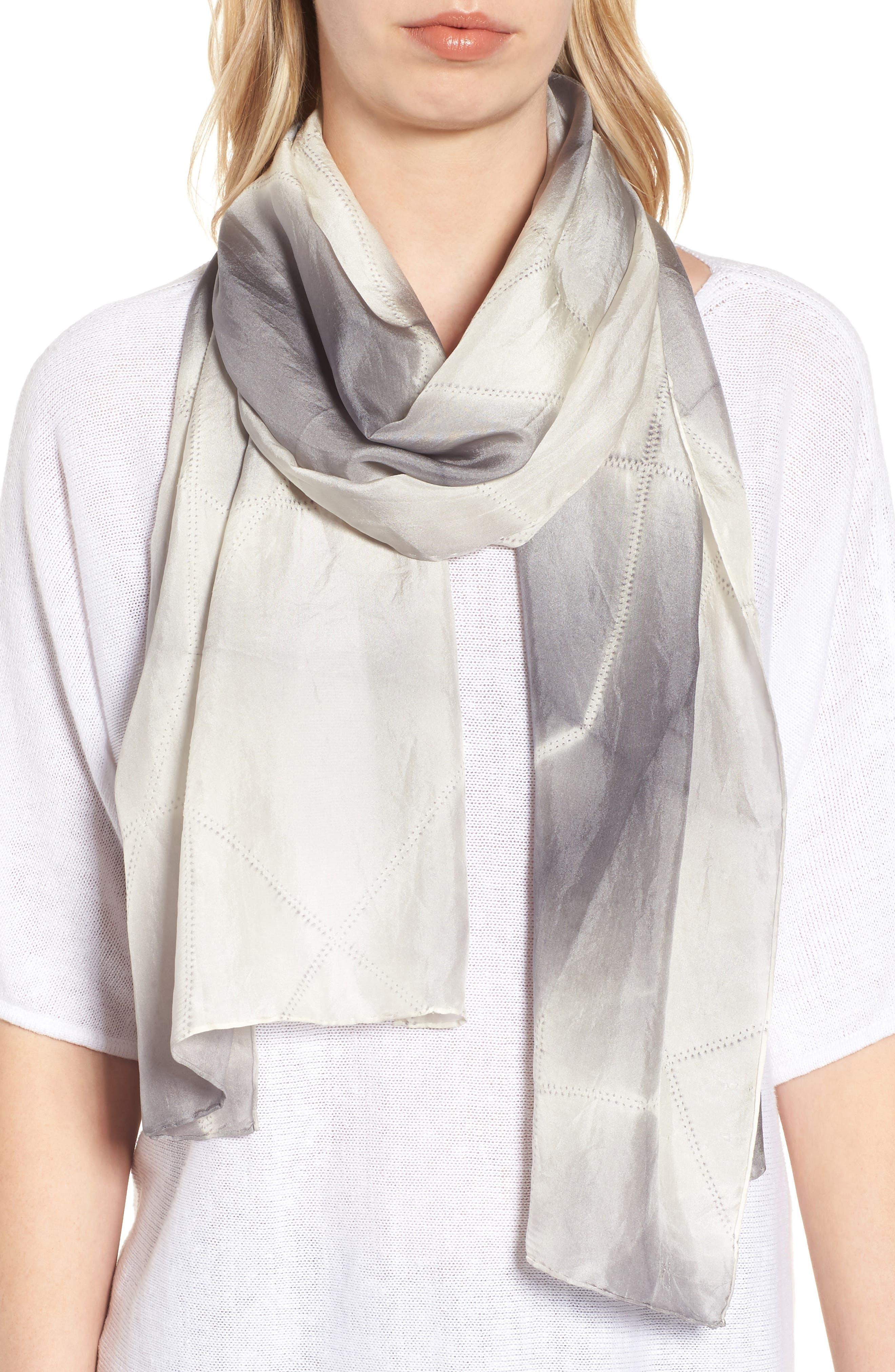 Tie Dye Silk Scarf,                         Main,                         color, 031