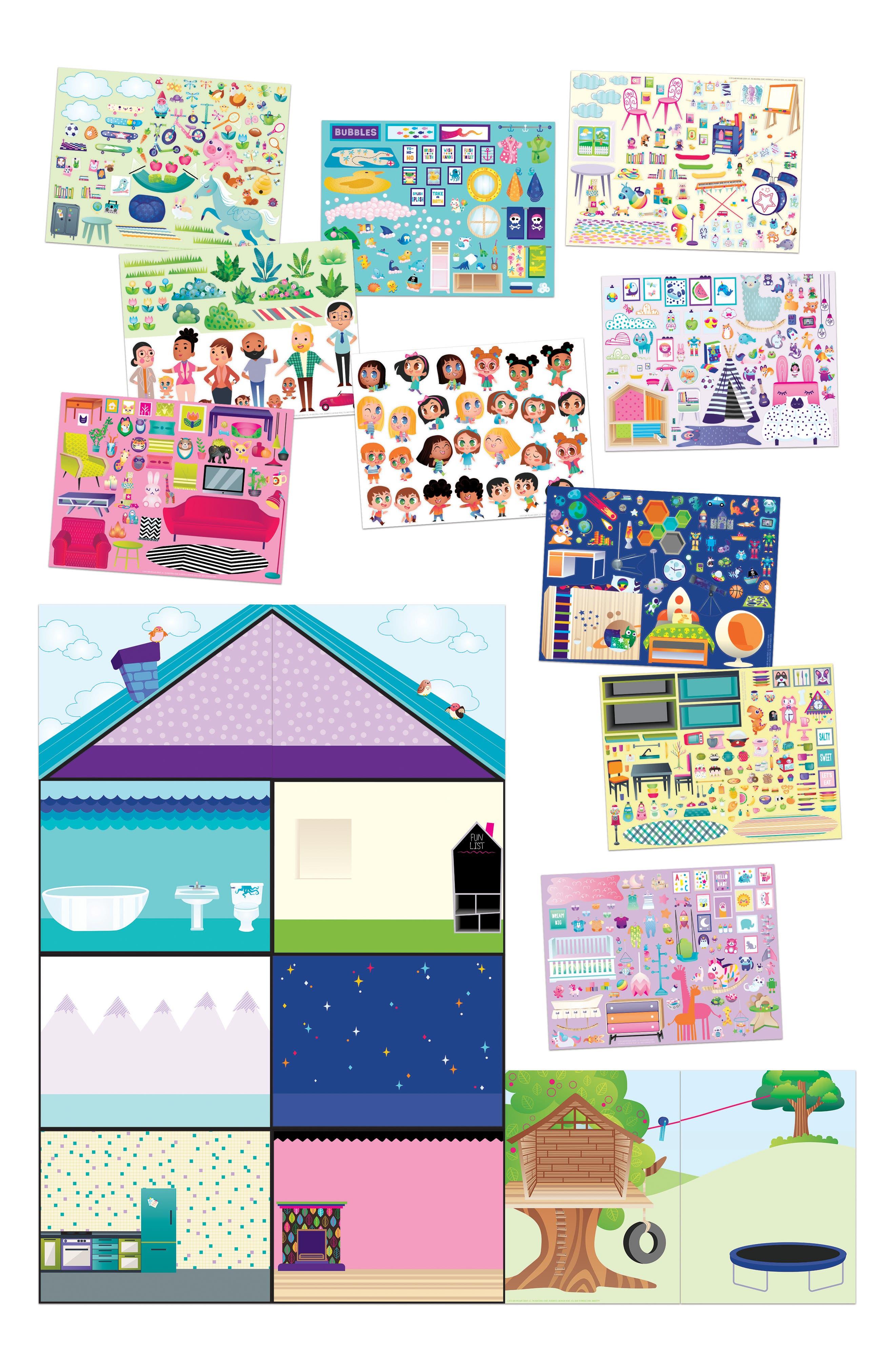 Jr. Wall Sticker Playhouse Set,                             Alternate thumbnail 3, color,                             960
