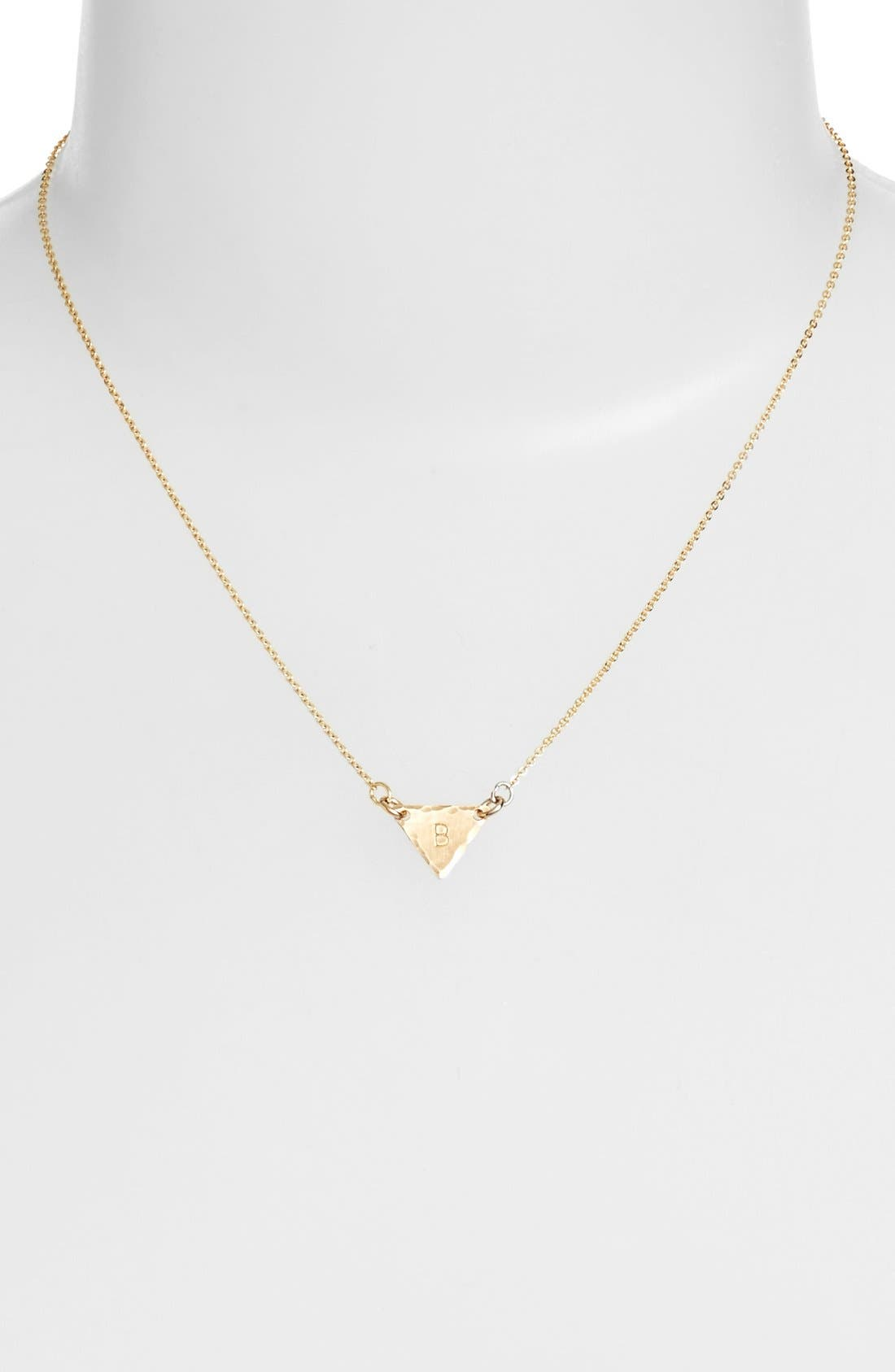 14k-Gold Fill Initial Triangle Necklace,                             Alternate thumbnail 28, color,