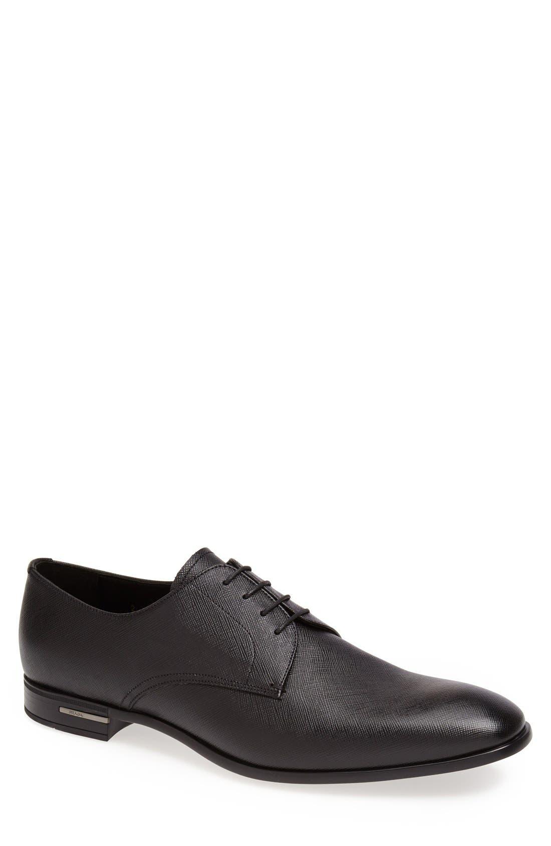 Plain Toe Derby,                         Main,                         color, BLACK