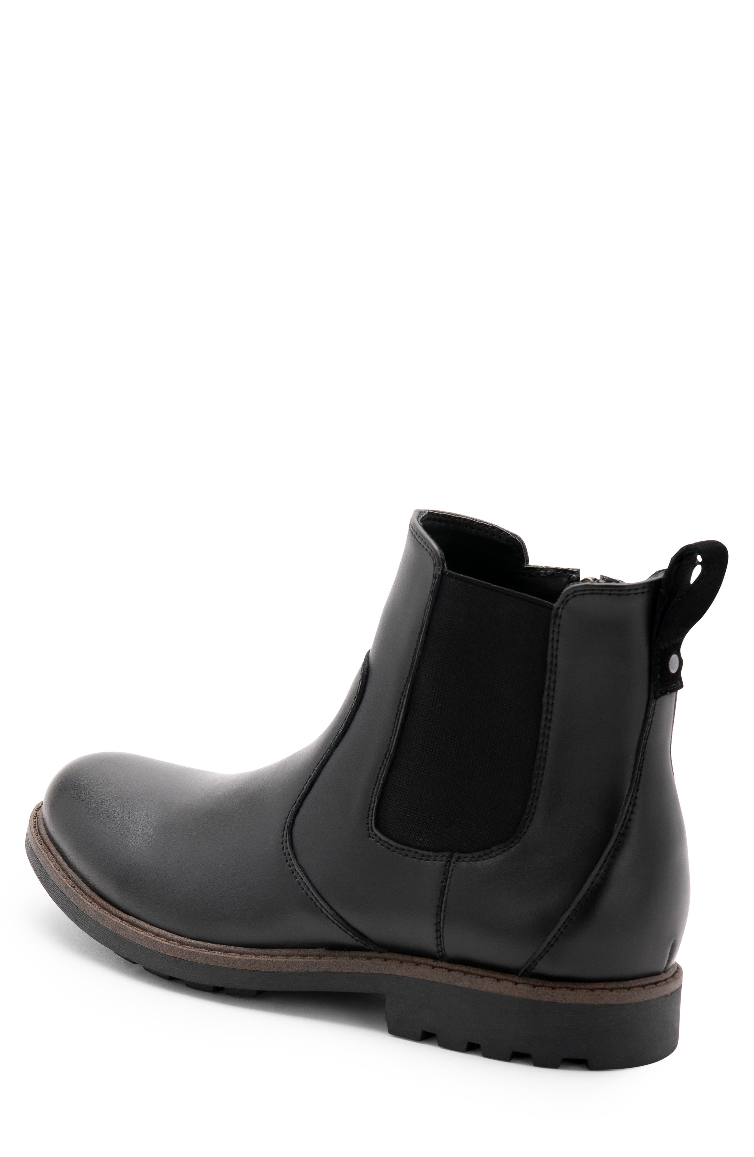 Shadow Waterproof Chelsea Boot,                             Alternate thumbnail 2, color,                             BLACK LEATHER