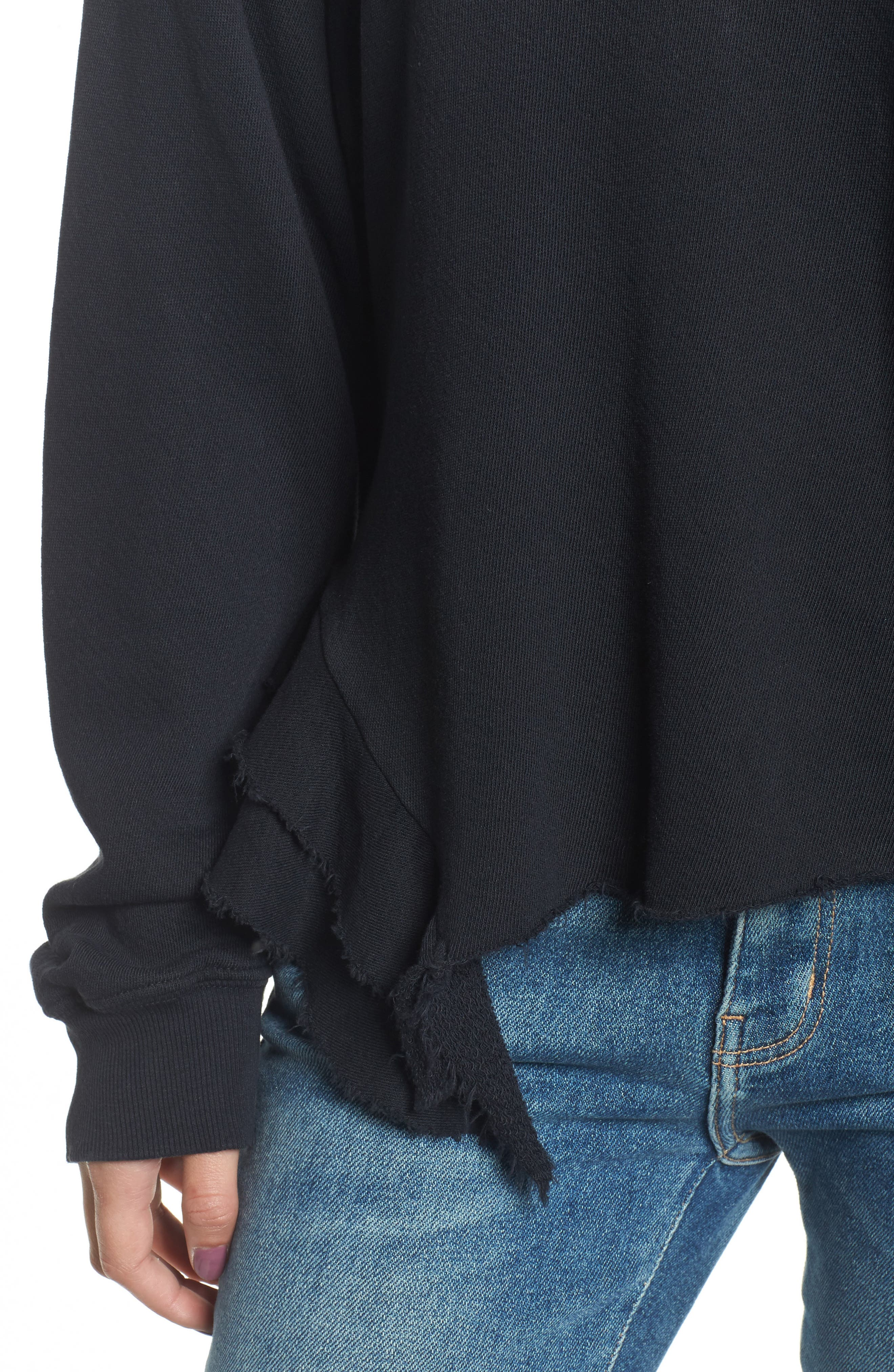 The Slouchy Ruffle Sweatshirt,                             Alternate thumbnail 4, color,                             006