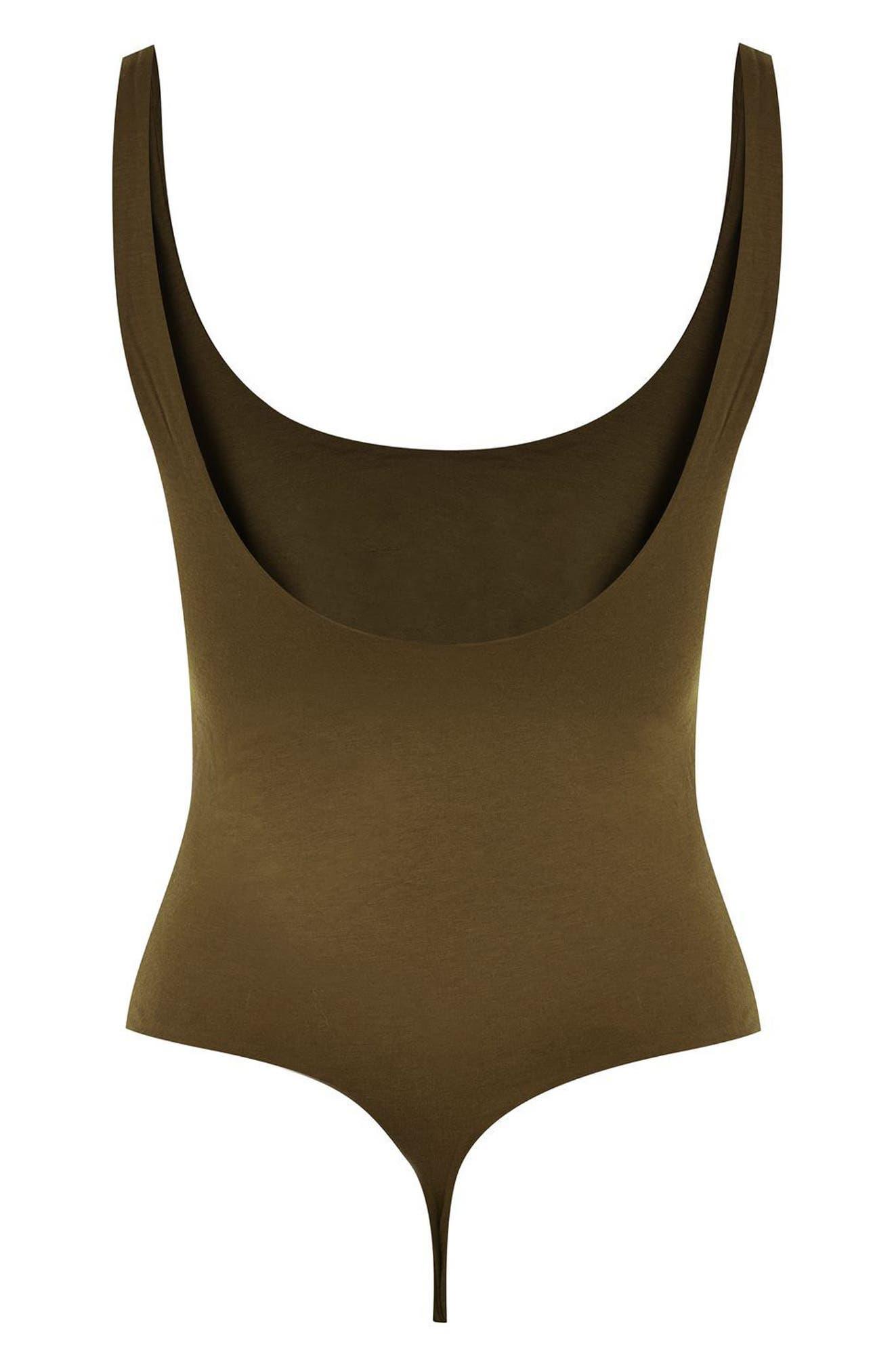 Scoop Back Thong Bodysuit,                             Alternate thumbnail 10, color,