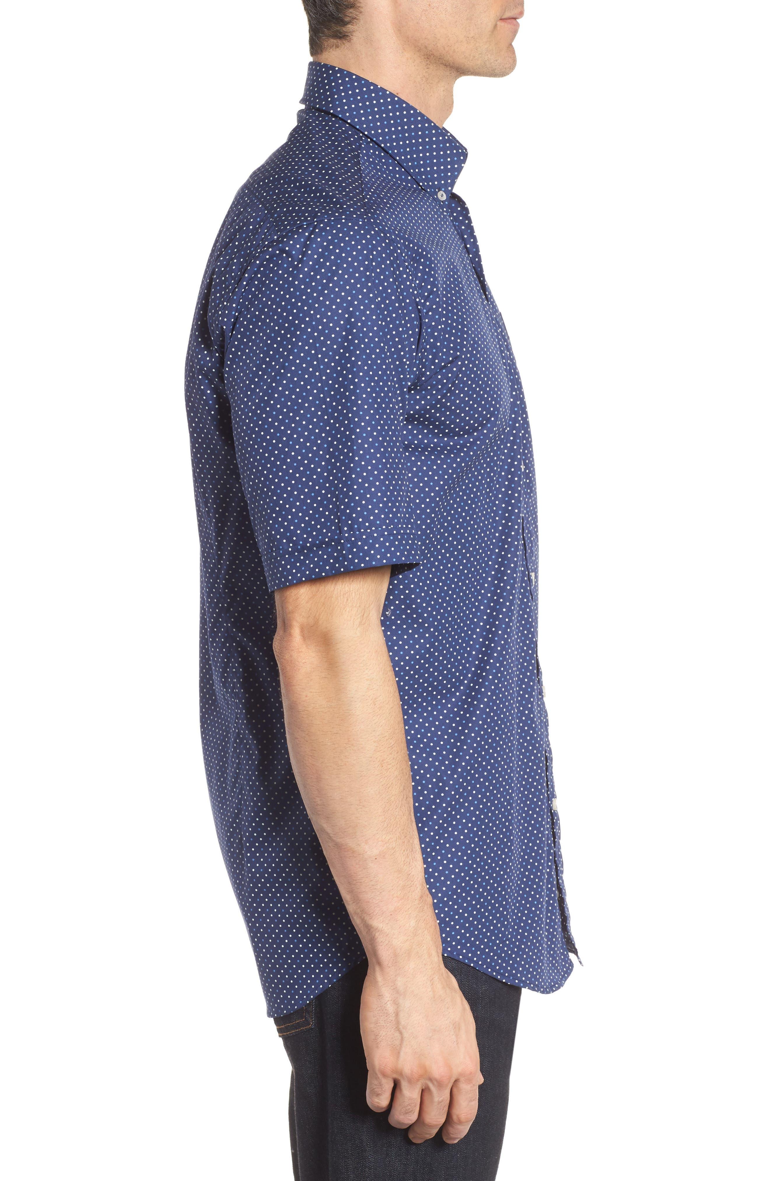 Paul&Shark Dot Sport Shirt,                             Alternate thumbnail 3, color,                             407