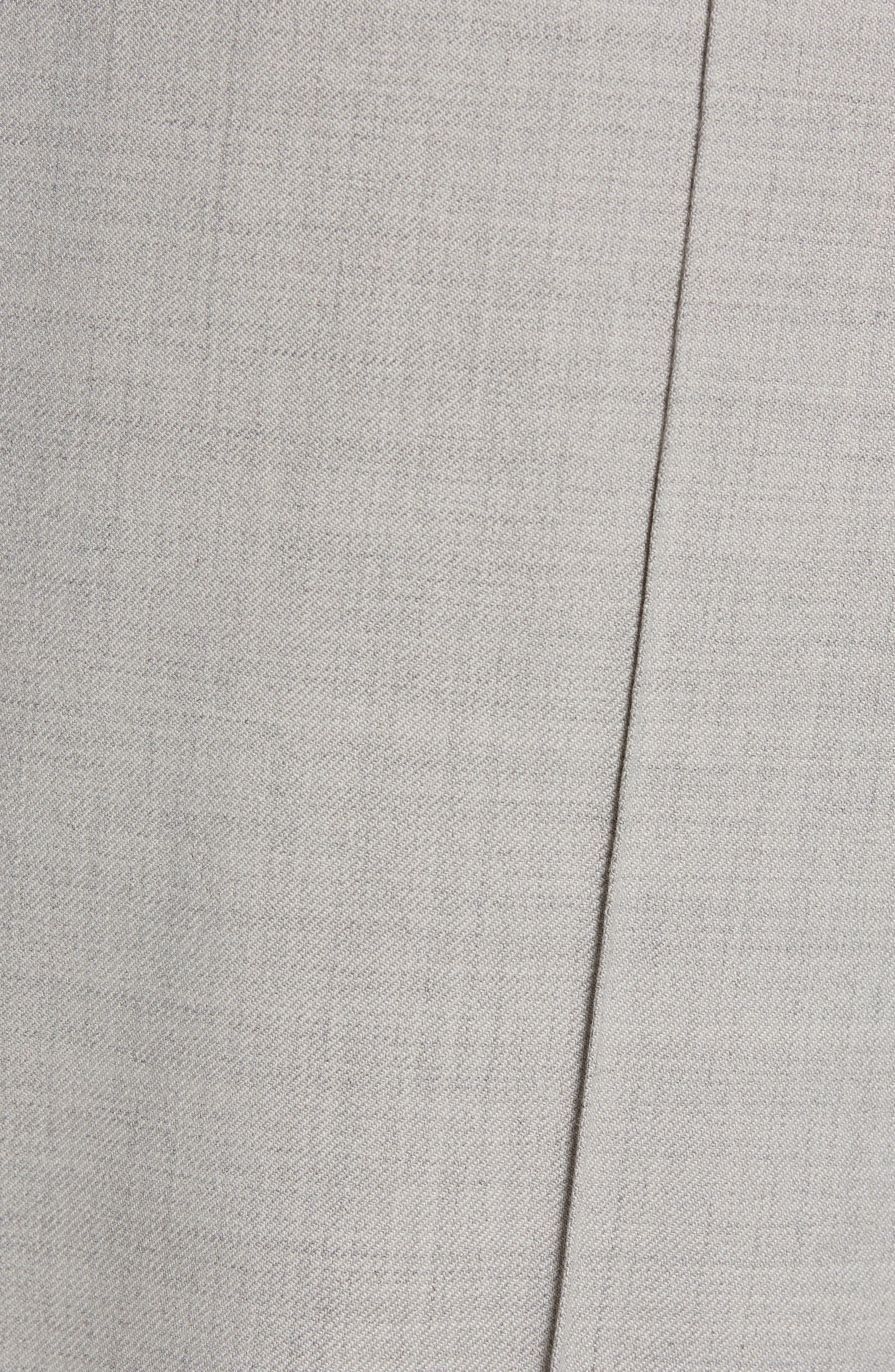 CLUB MONACO,                             Trim Fit Pintuck Pants,                             Alternate thumbnail 5, color,                             HEATHER GREY